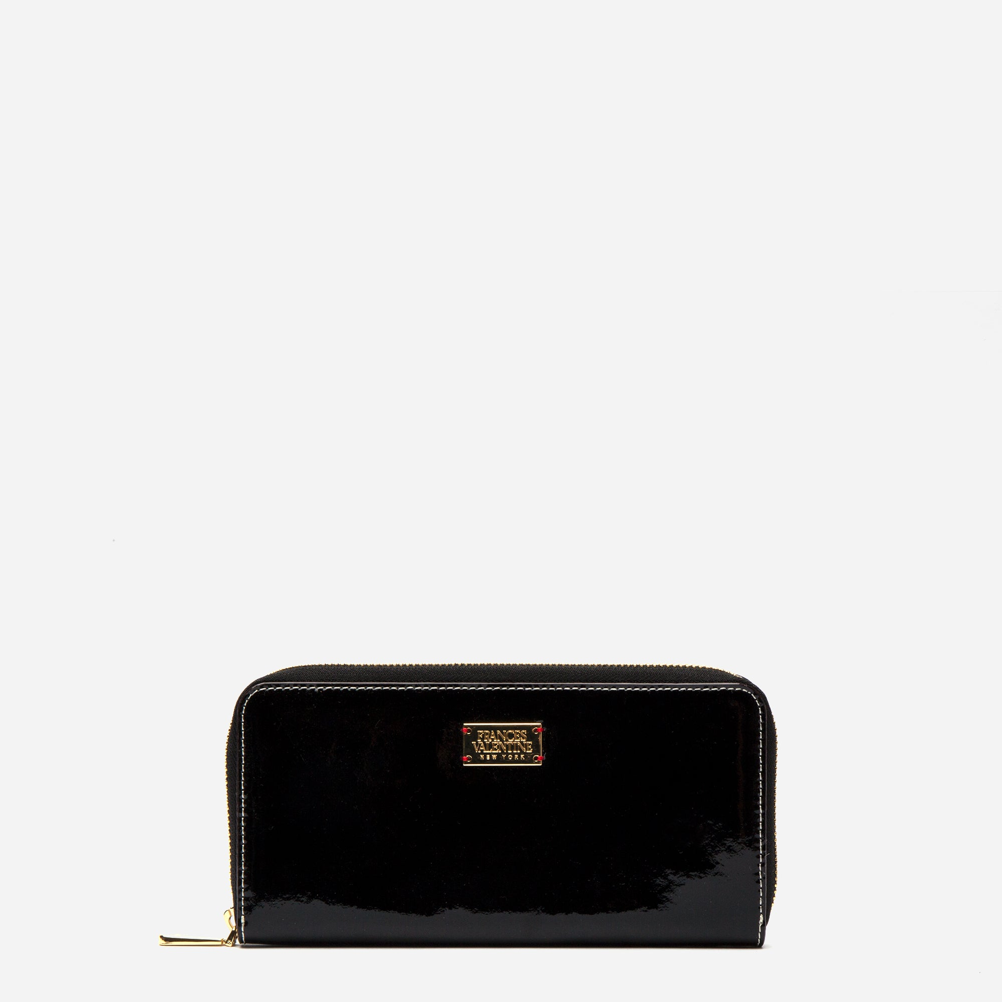 Washington Zip Wallet Soft Patent Black Oyster