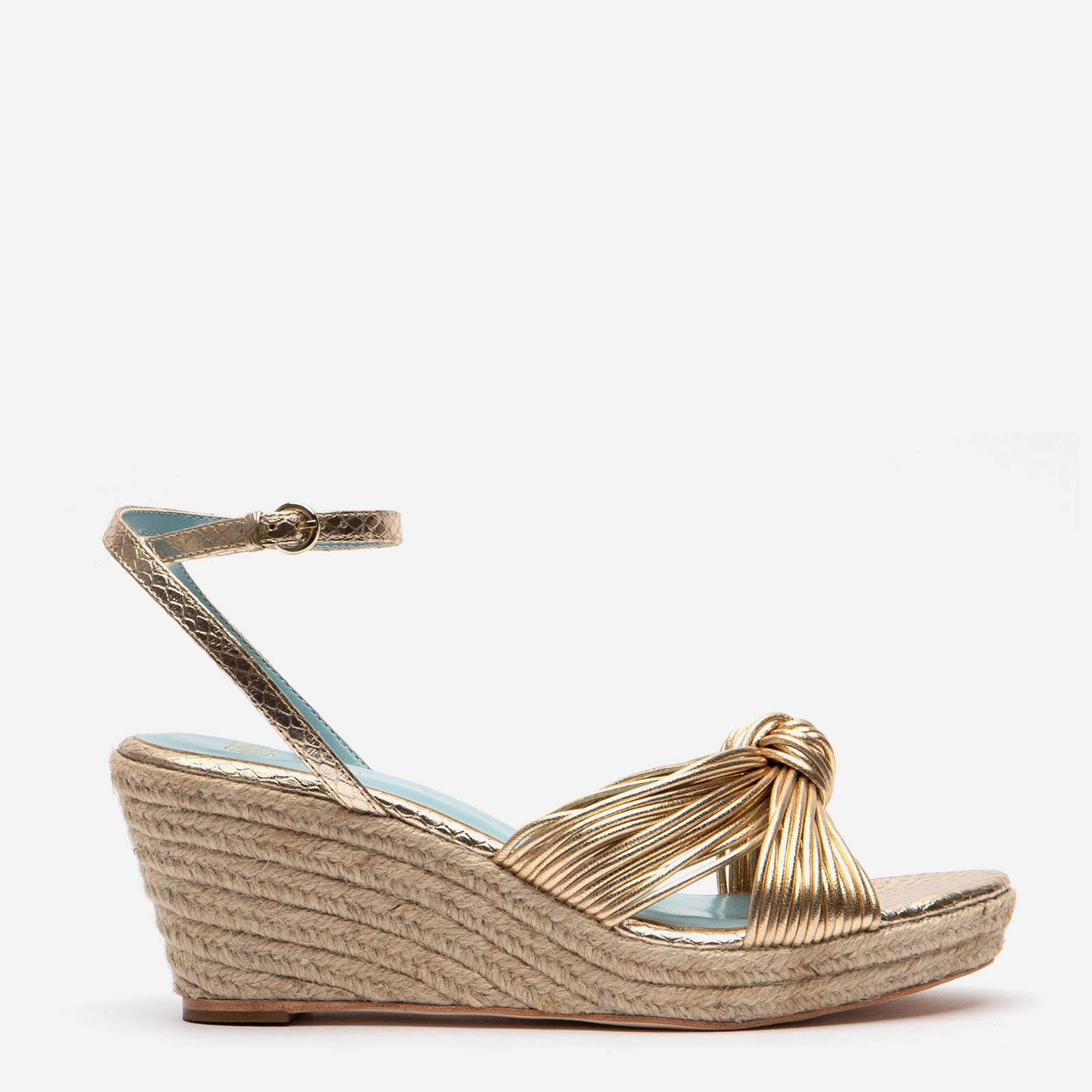 Trey Jute Wedge Sandal Platino