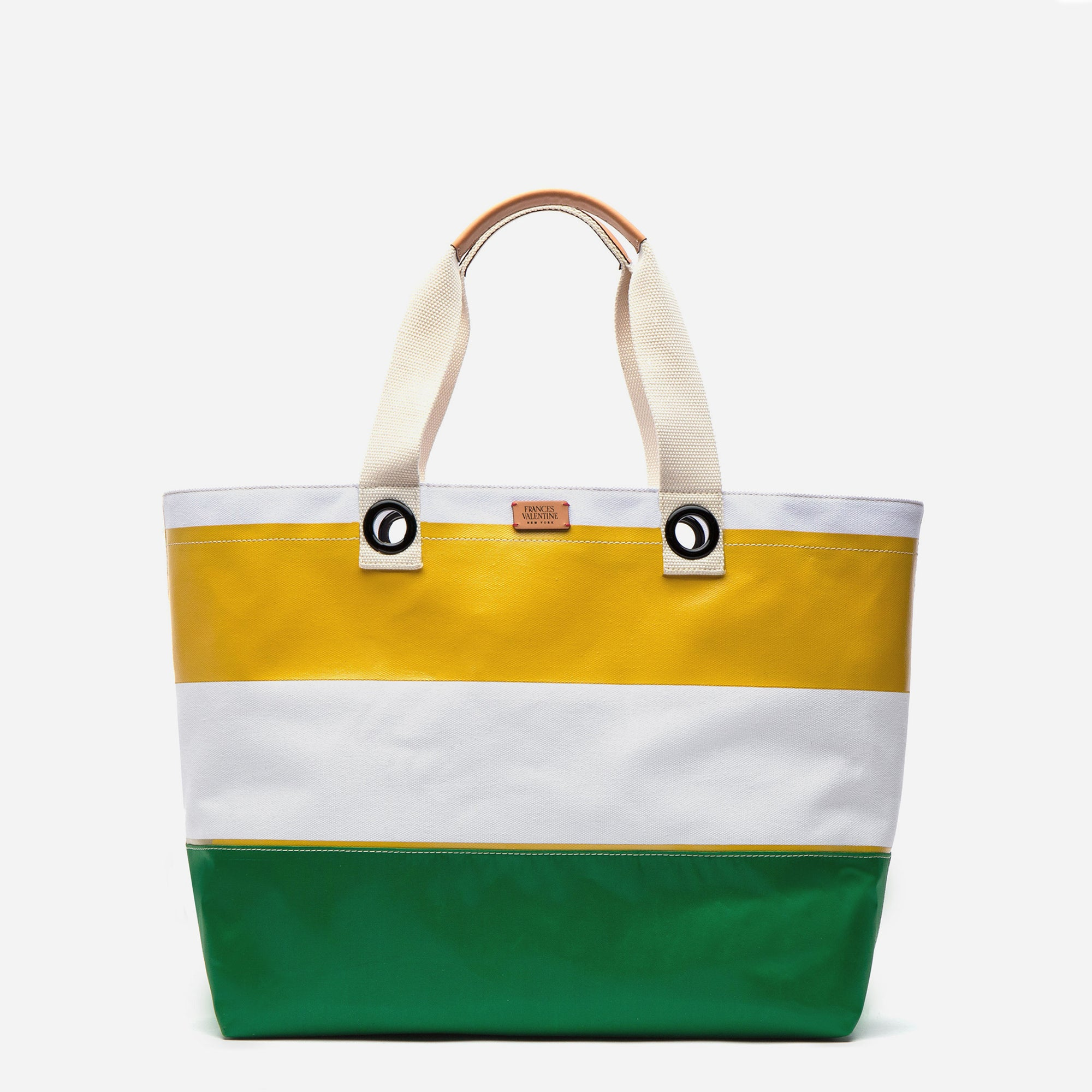 Gibson Beach Weekend Tote Yellow Green - Frances Valentine