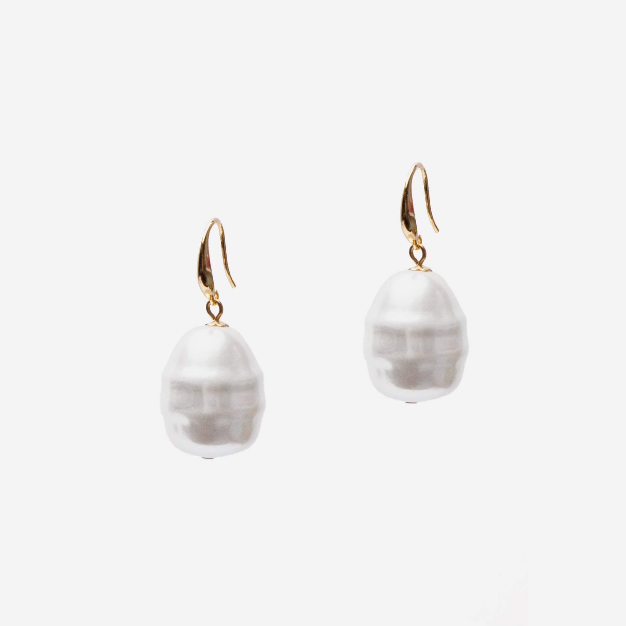 Pearl Buoy Earrings