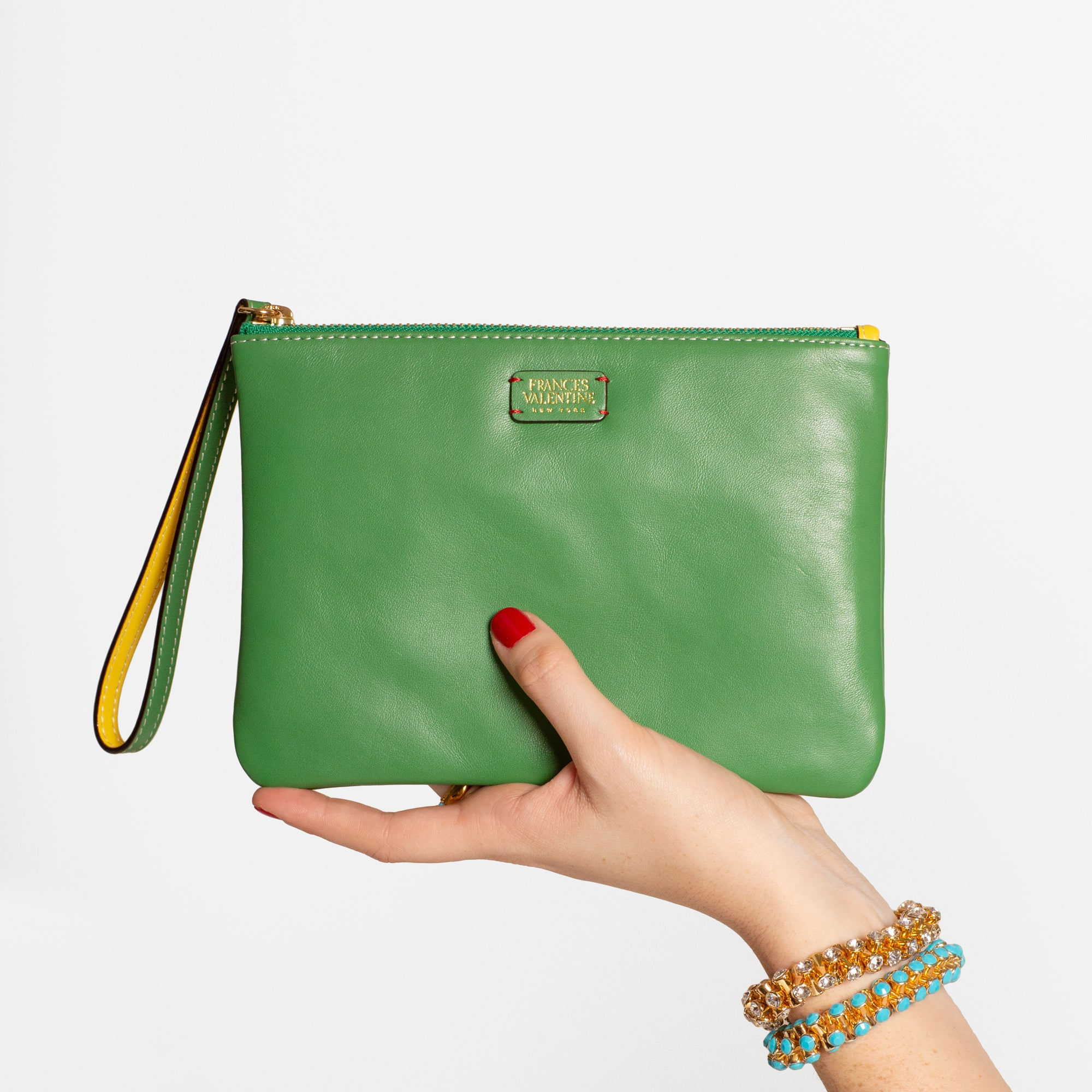 Wristlet Nappa Leather Green