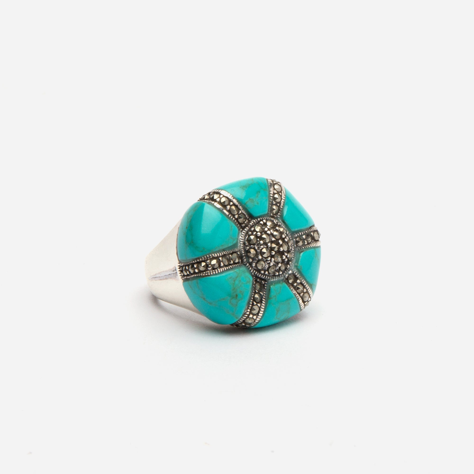 Anemone Turquoise Ring
