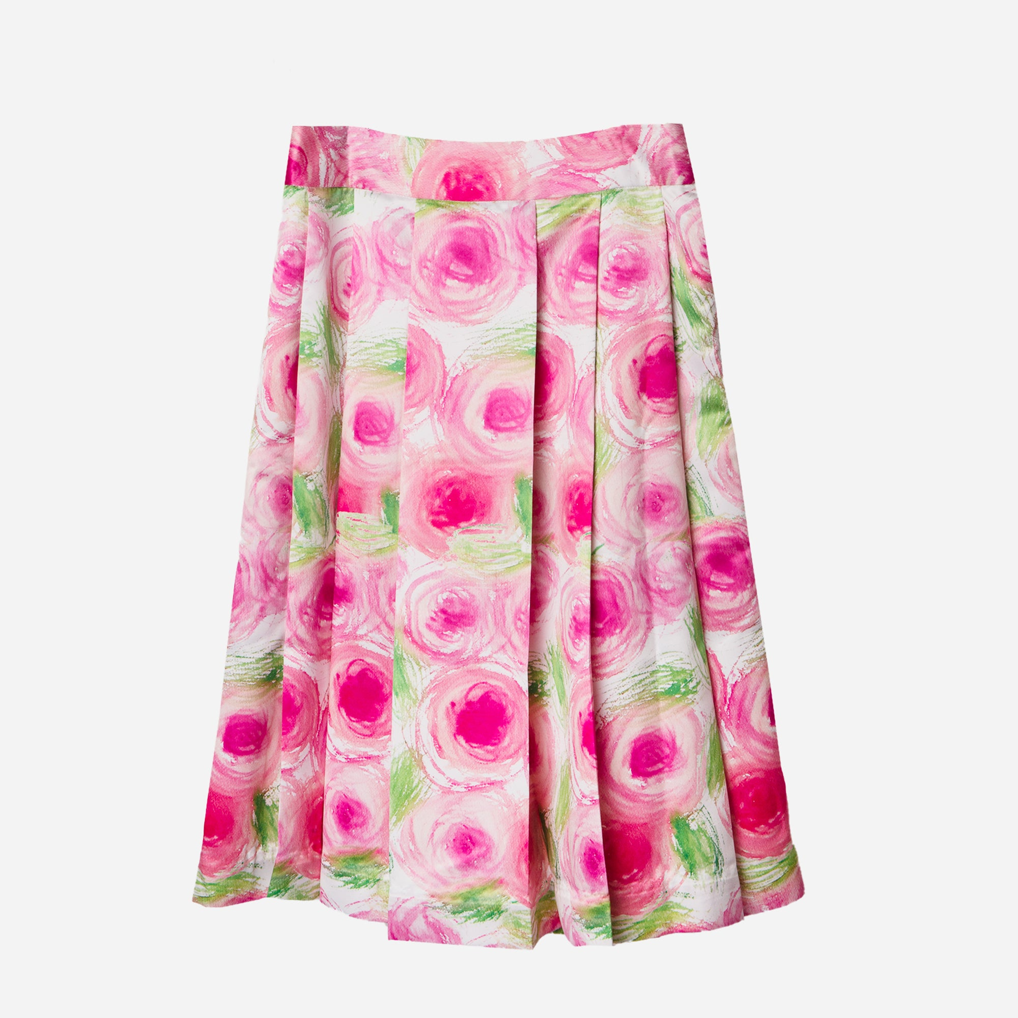 Pleated Paulina Peony Skirt - Frances Valentine