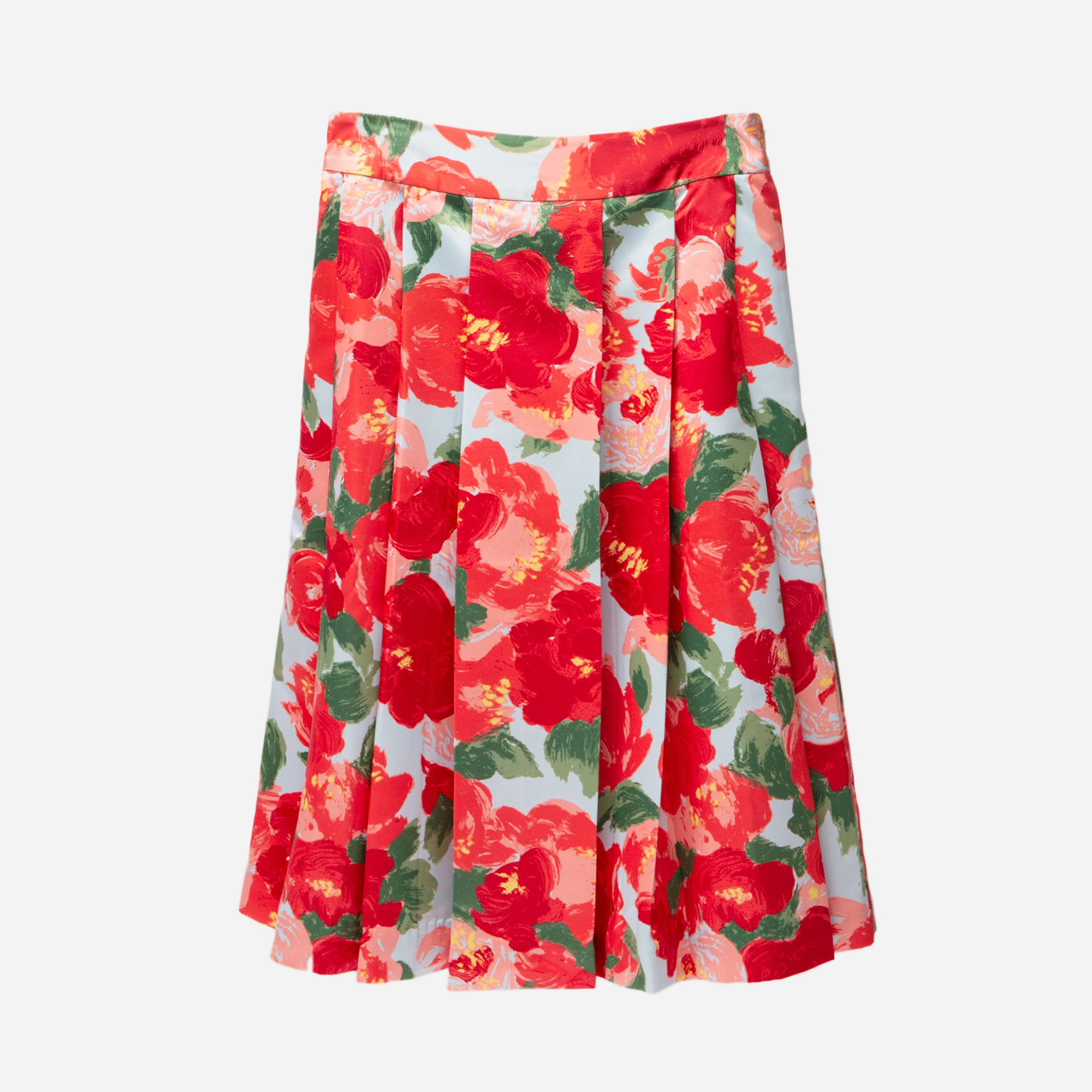 Pleated Jemme Peony Skirt - Frances Valentine