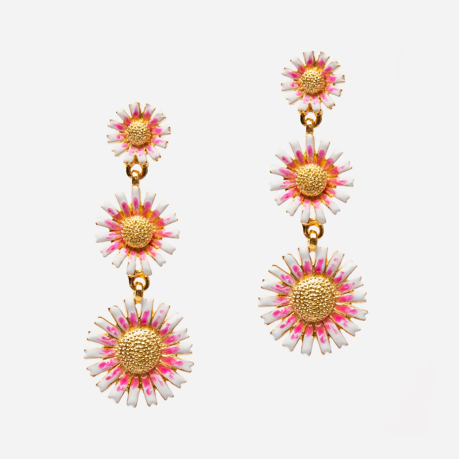 Cascading Daisy Earrings