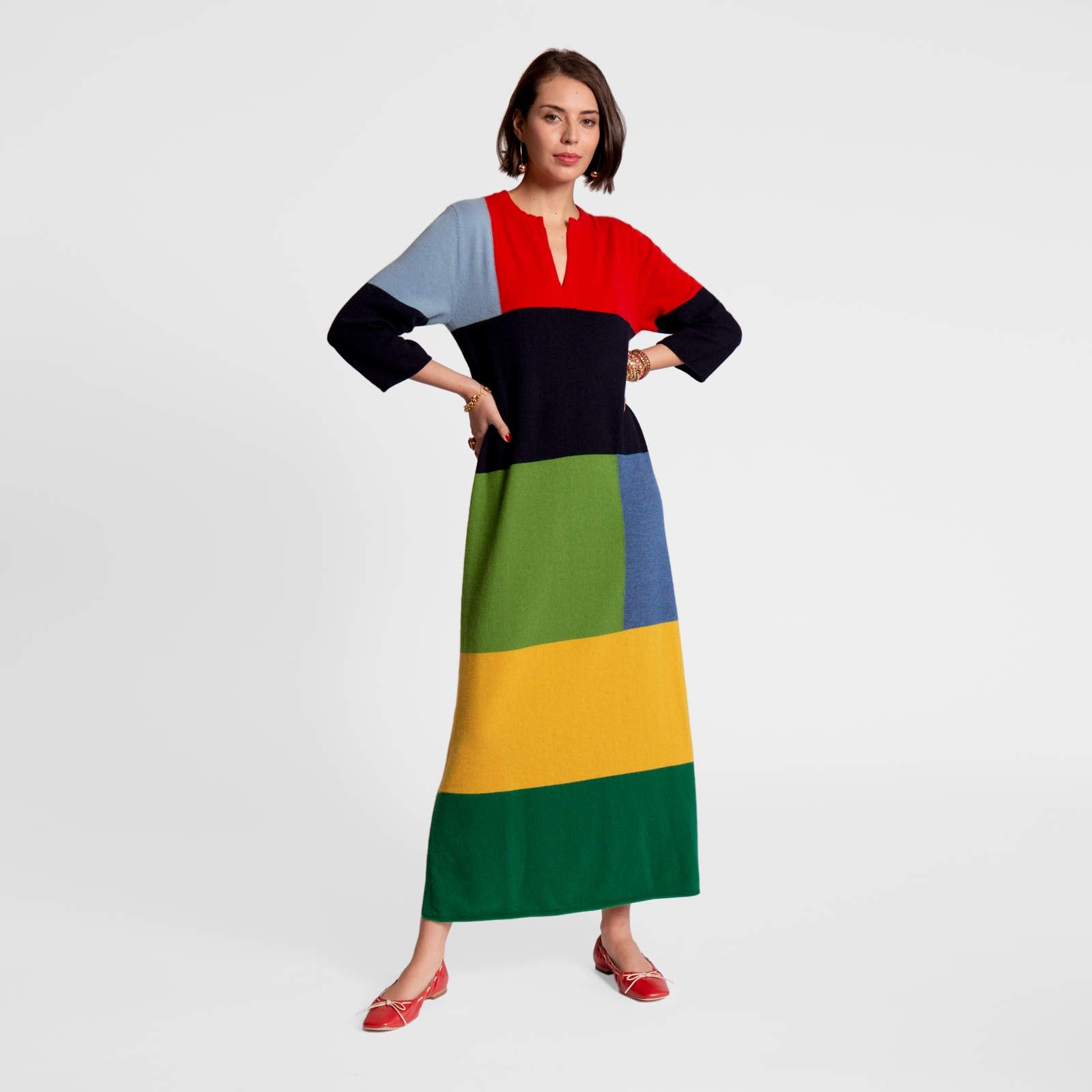 Classic Colorblock Maxi Dress - Frances Valentine
