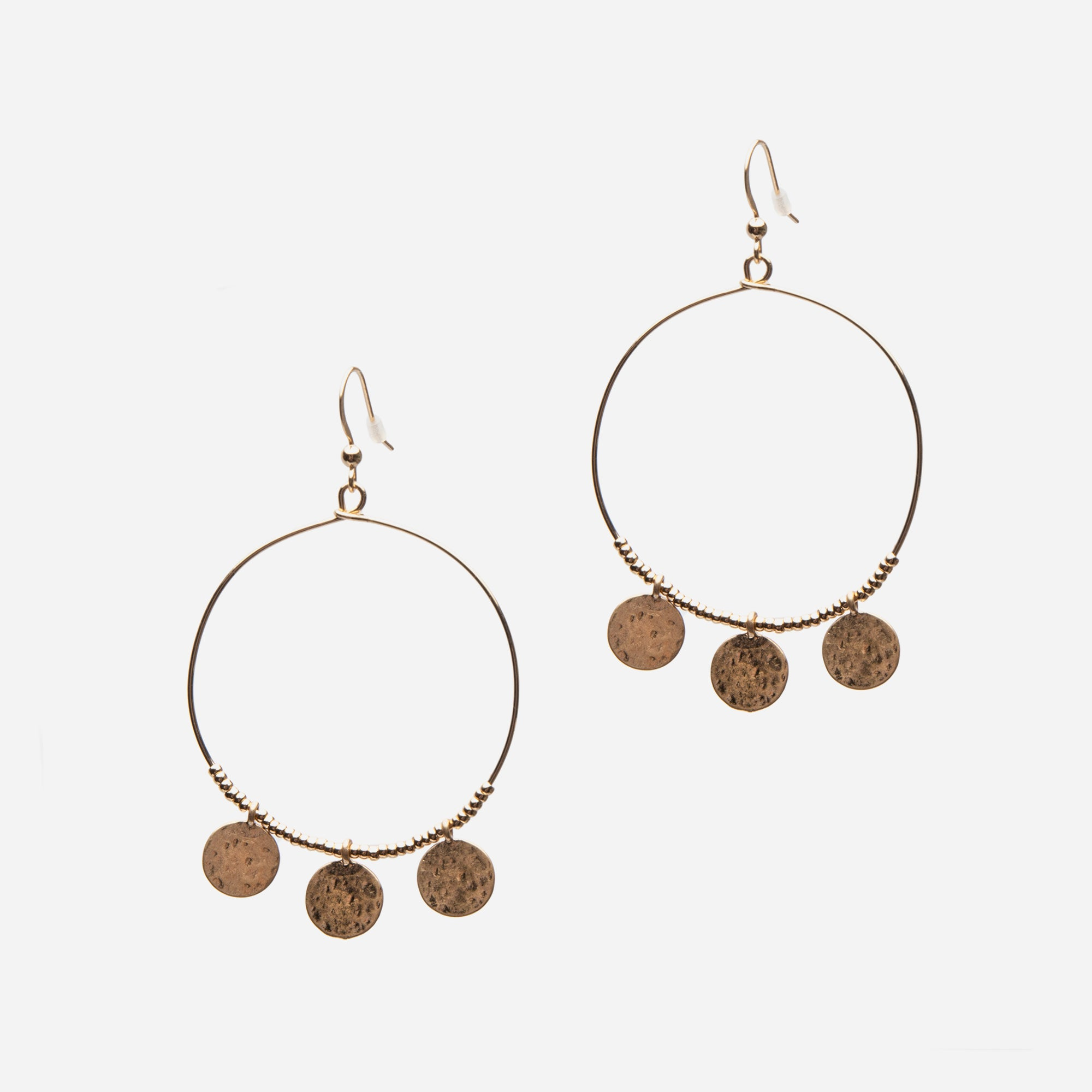 Disc Hoop Earrings