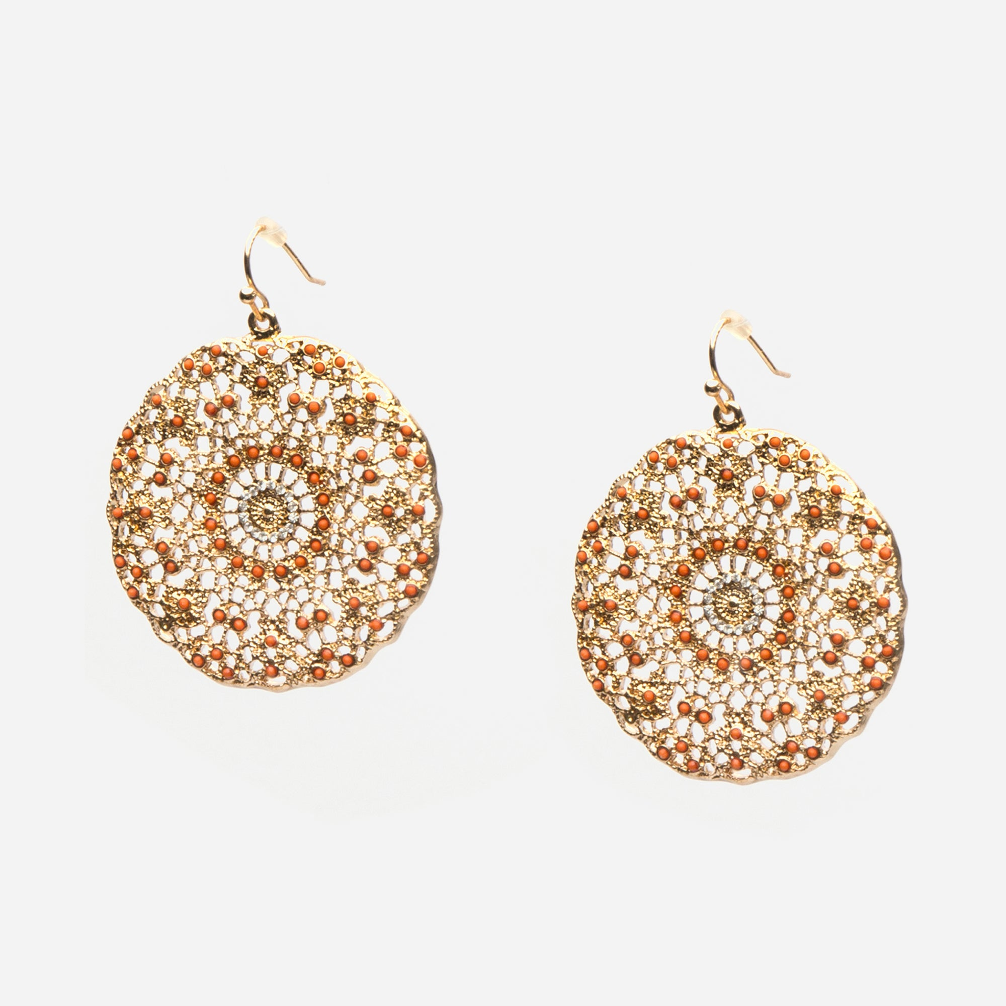 Coral Filigree Earrings