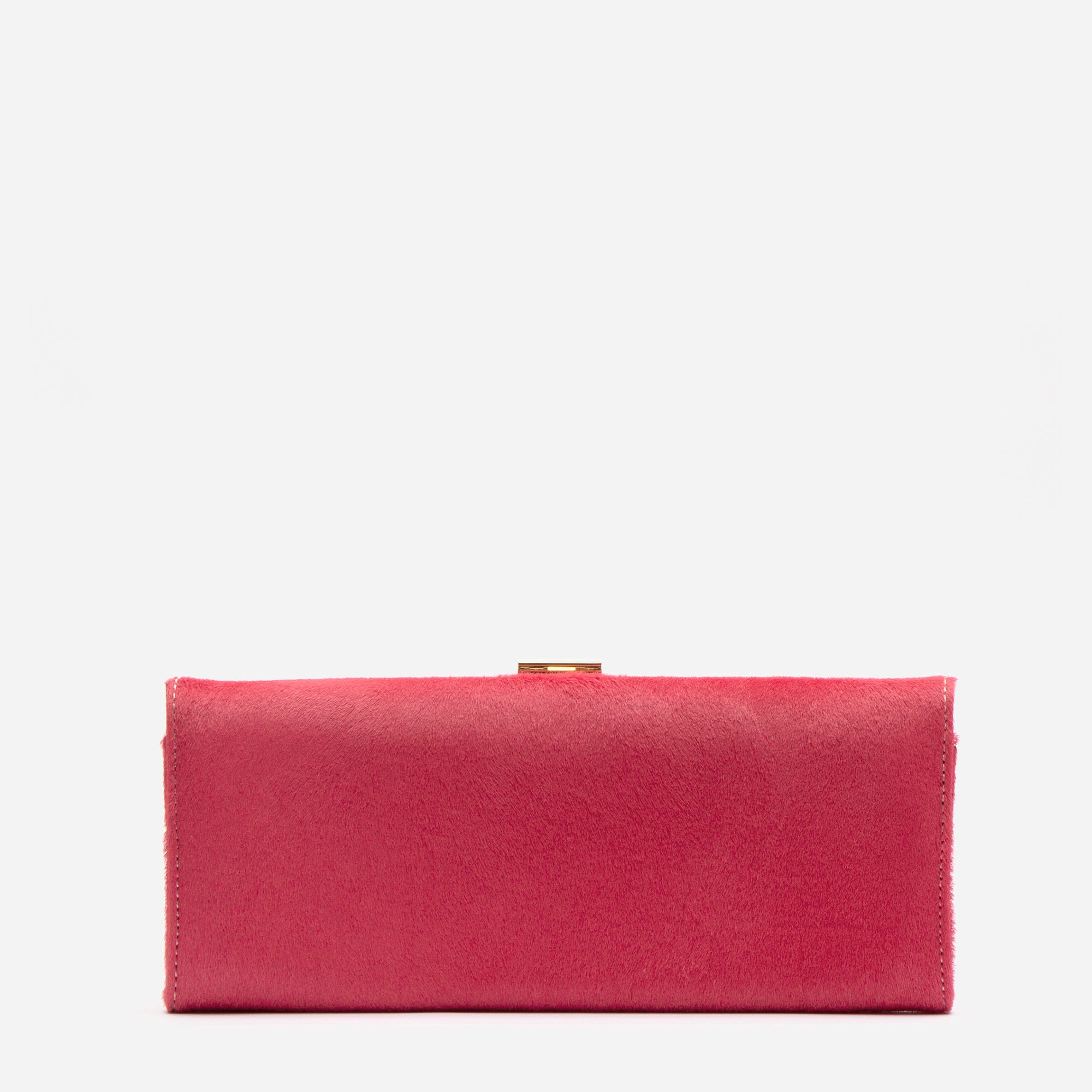Eleni Handheld Clutch Pink Haircalf