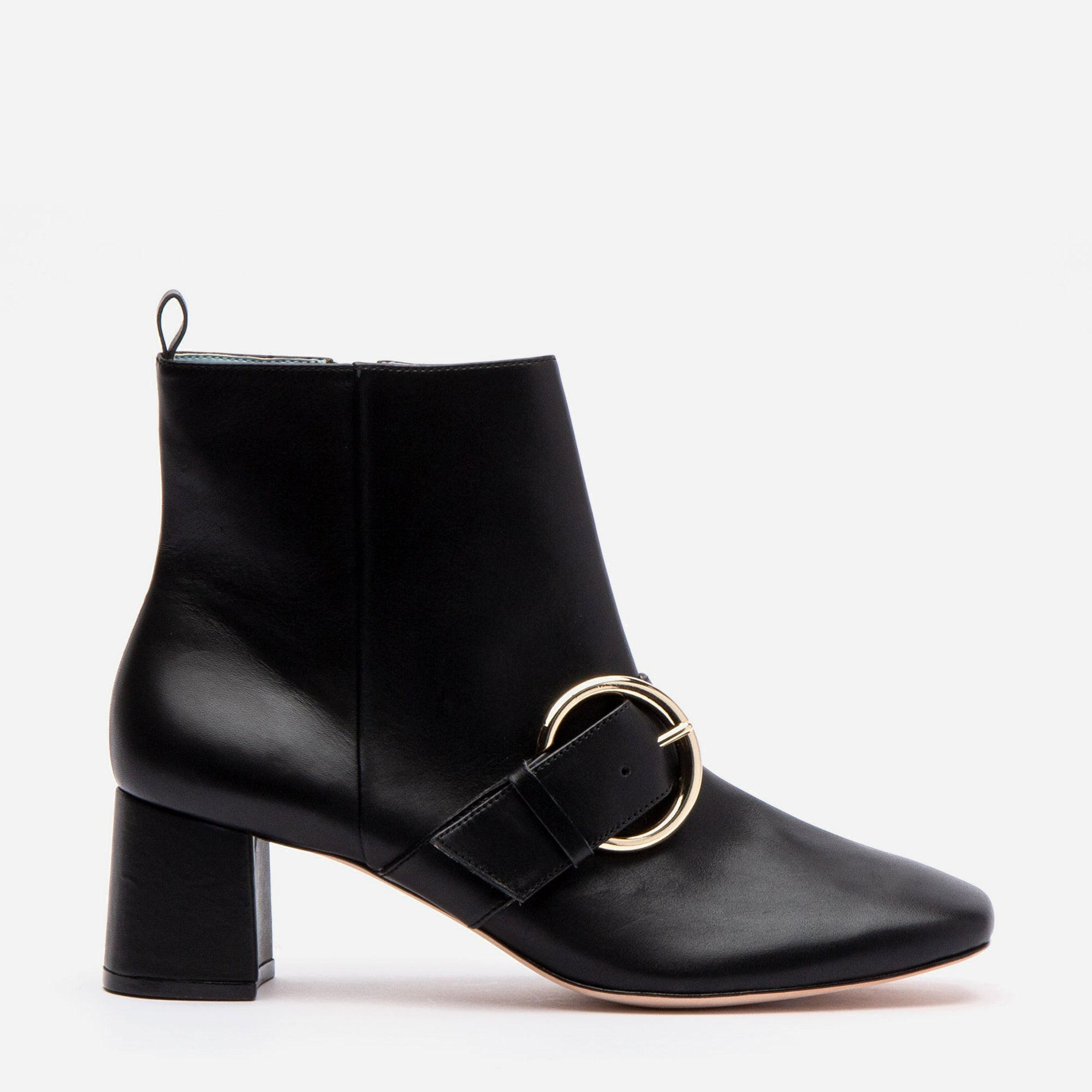 Cassie Leather Ankle Boots Black