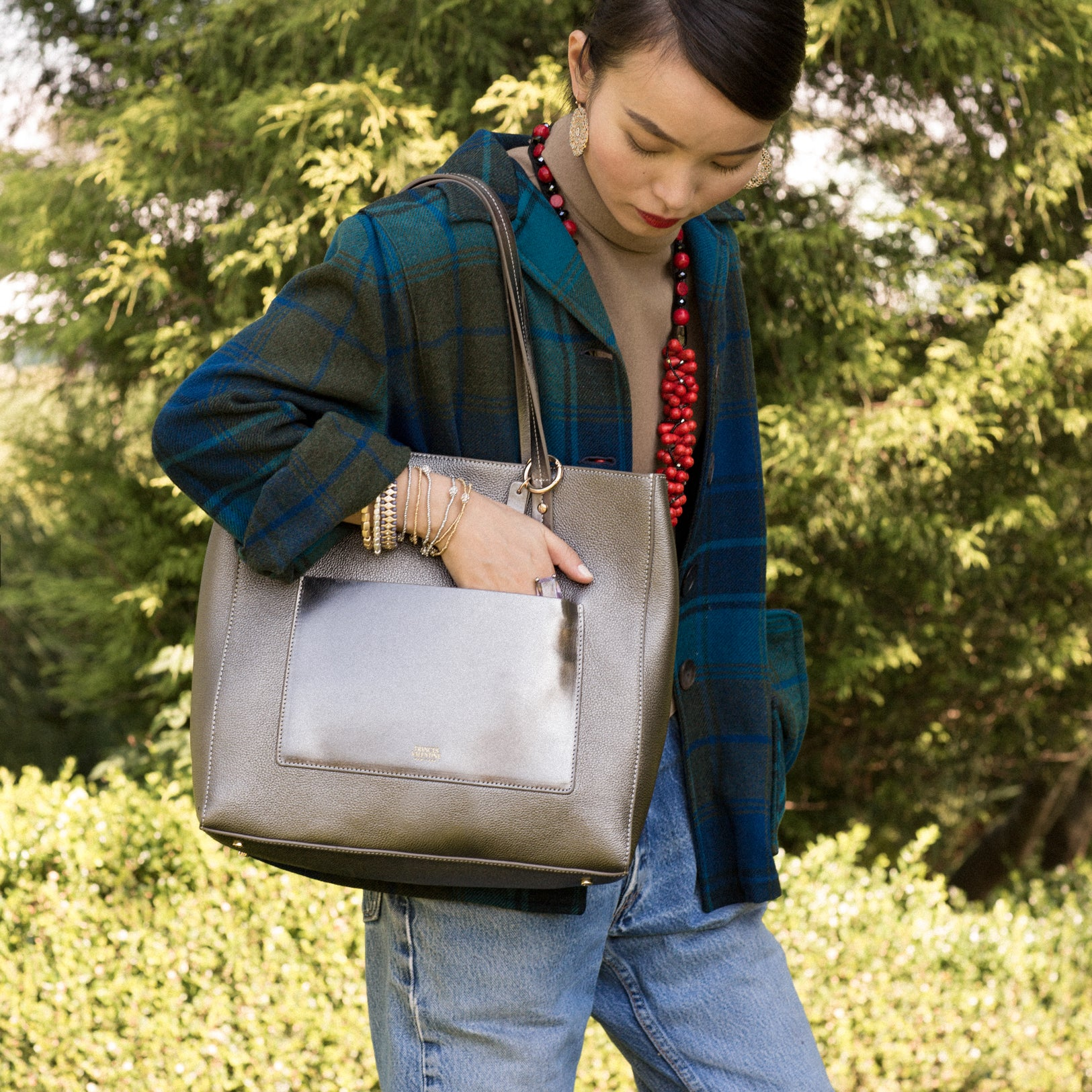 f367761726 Carry a laptop & everyday essentials. Shop Frances. Tall Chloe Tumbled  Leather Black