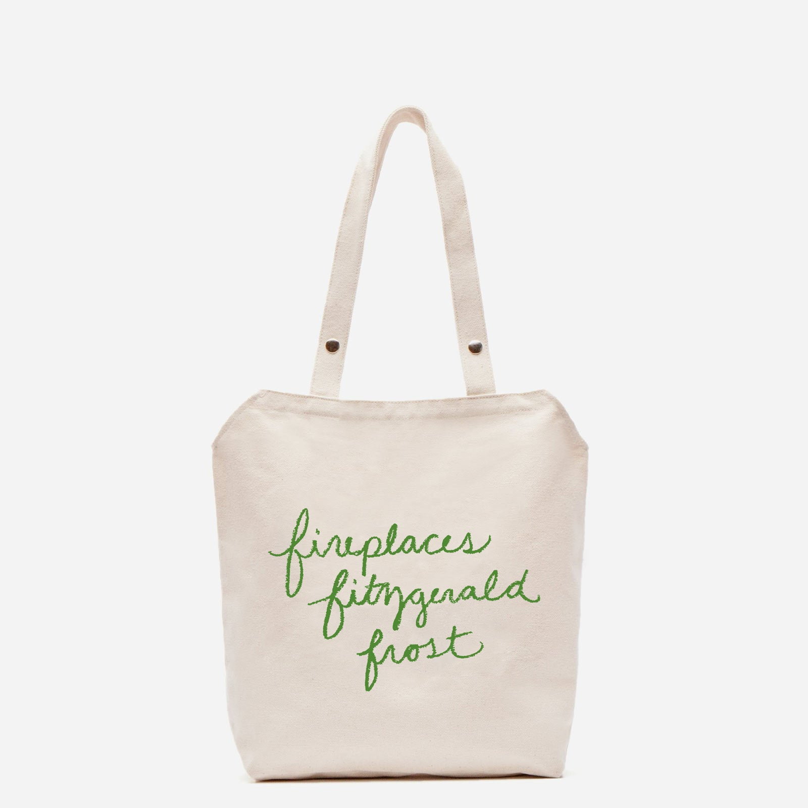 Canvas Tote Holiday Green - Frances Valentine