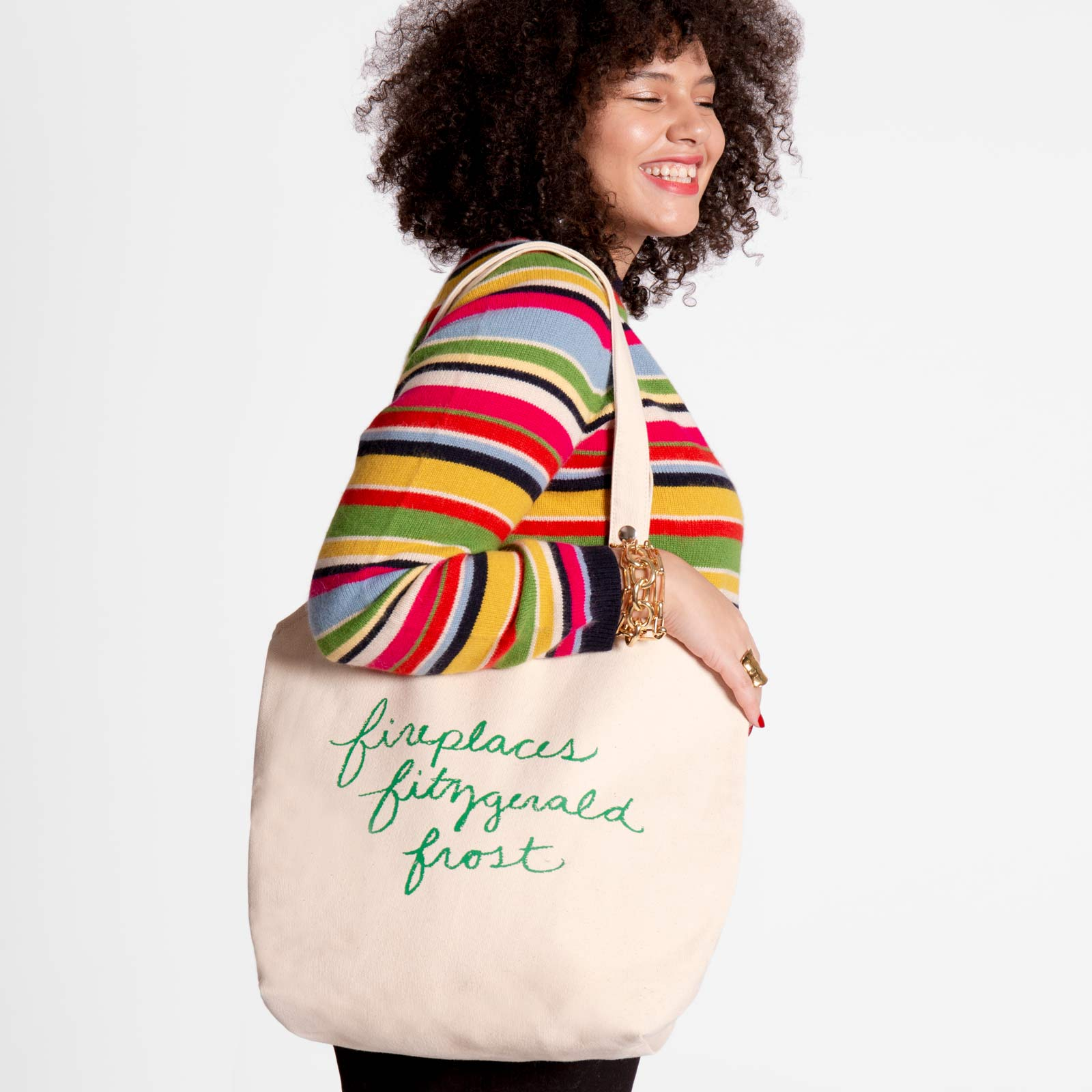 Canvas Tote Holiday Green