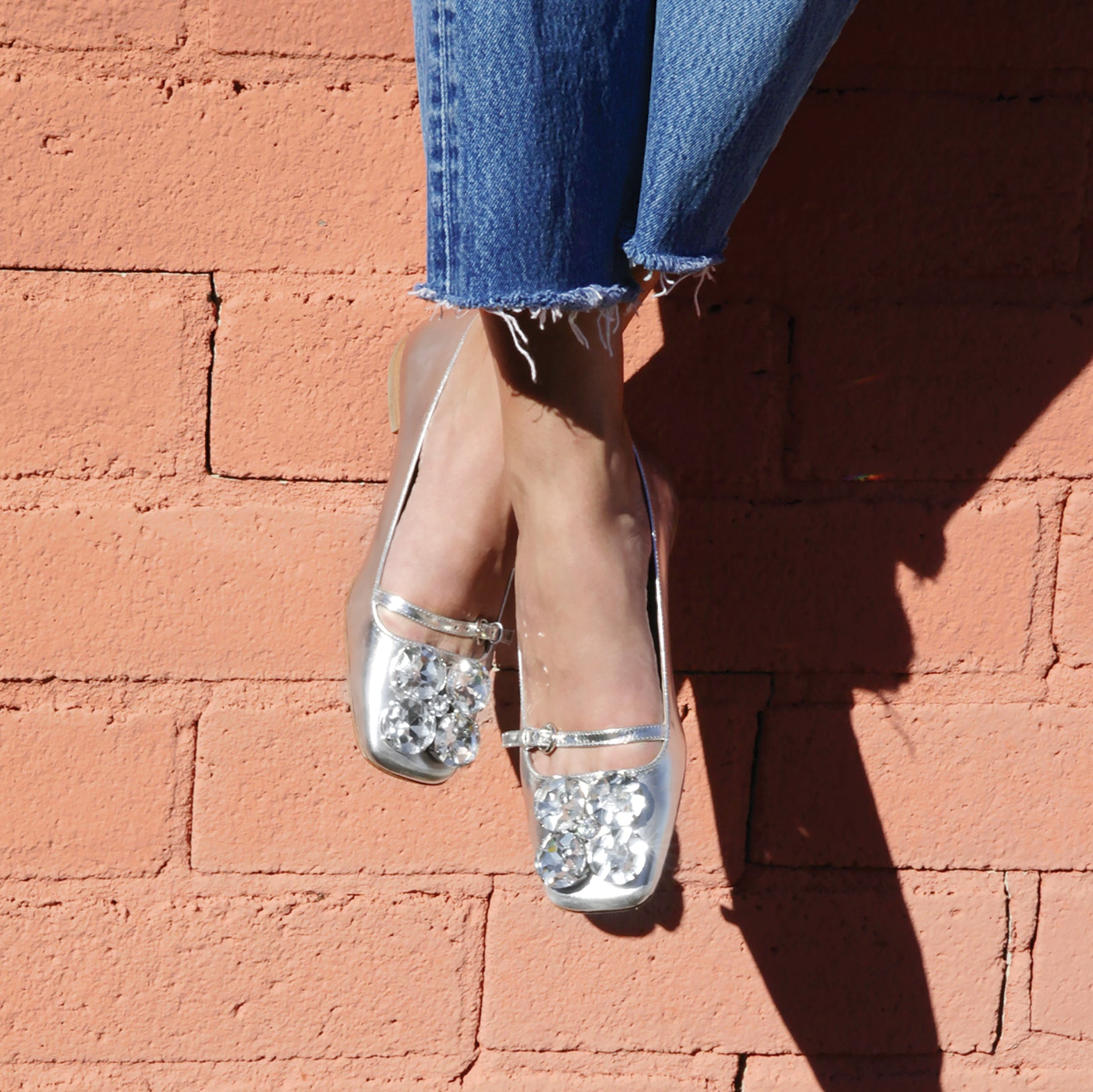 Josephine Metallic Leather Flats
