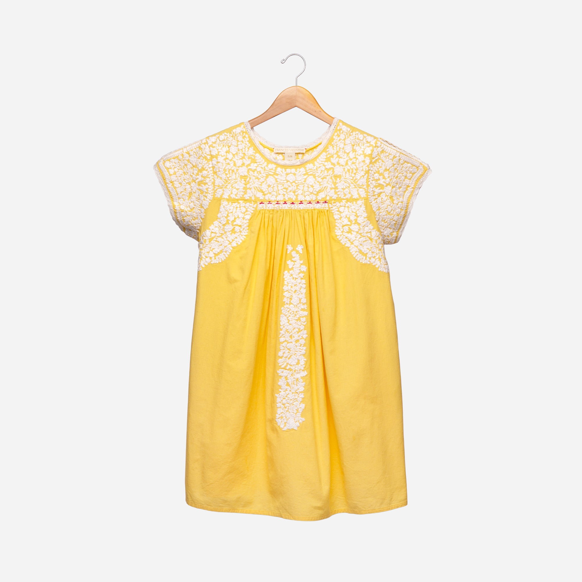 Floral Embroidery Dress Sunshine