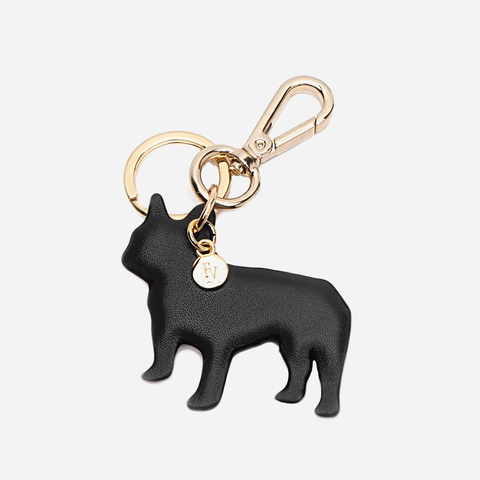 French Bulldog Keychain Black
