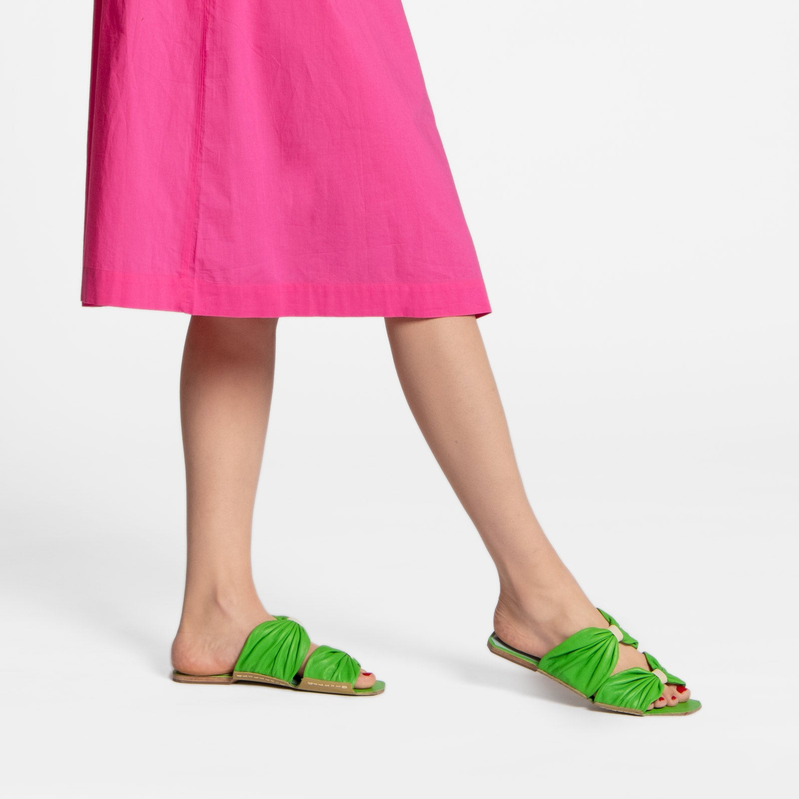 Frenchie Sandal Soft Nappa Green