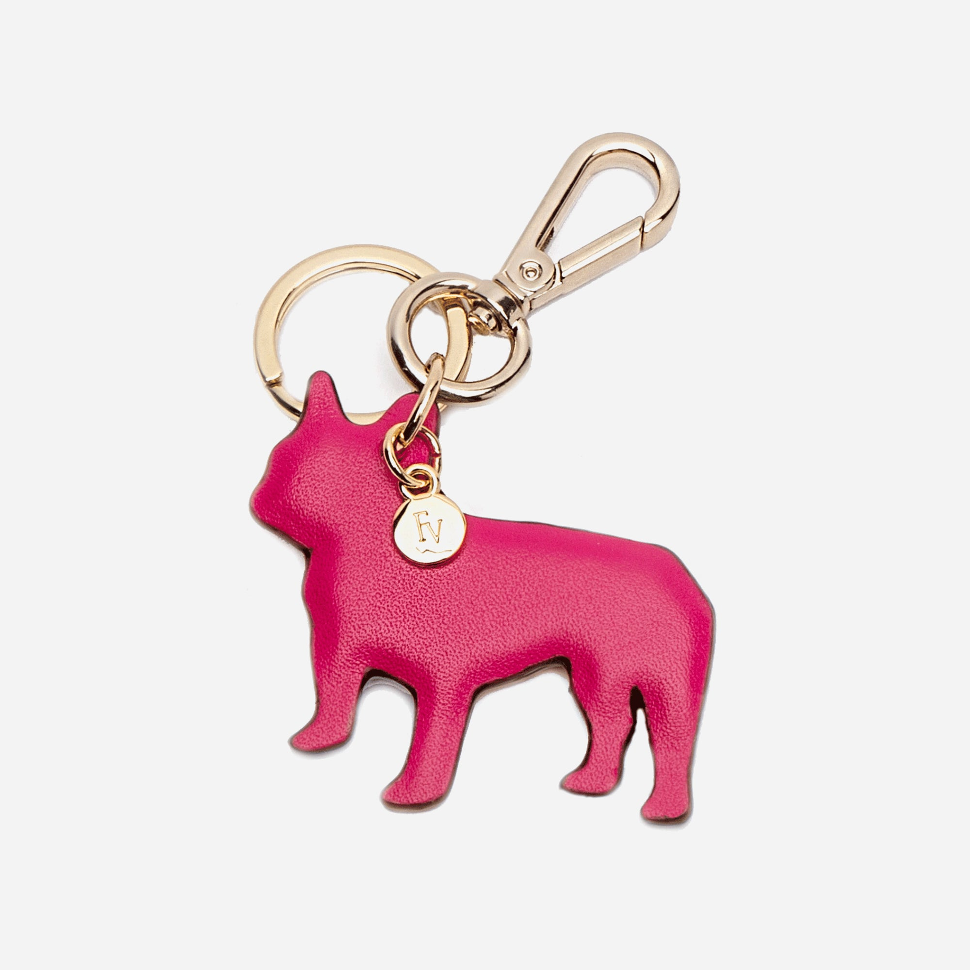 French Bulldog Keychain Pink