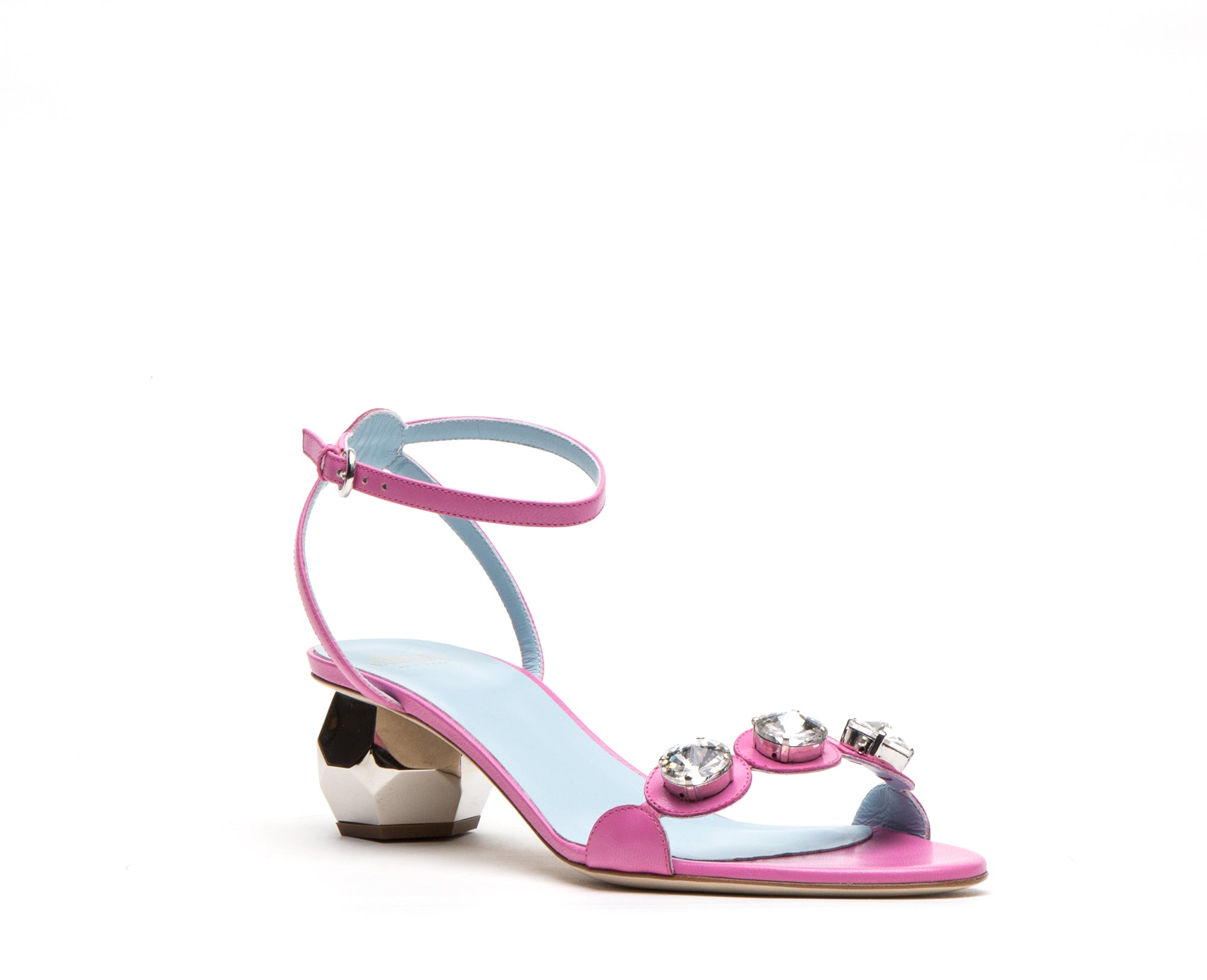 Beatrix Leather Sandals Pink