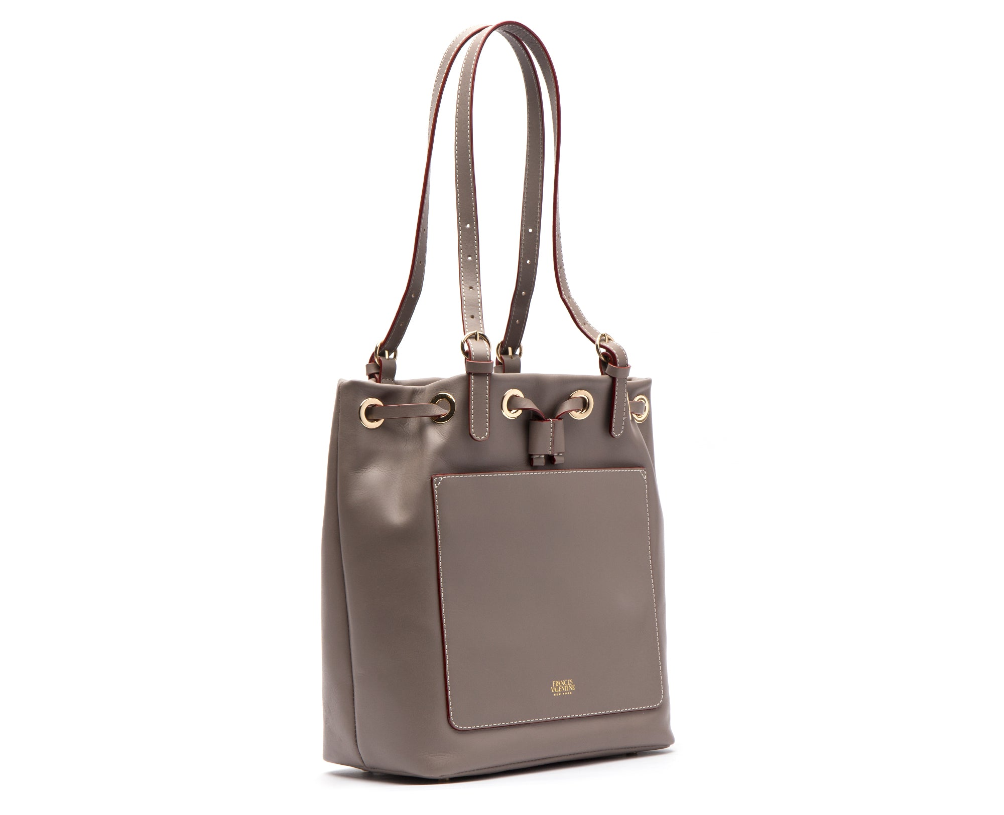 Ali Shoulder Tote Grey Vachetta Leather