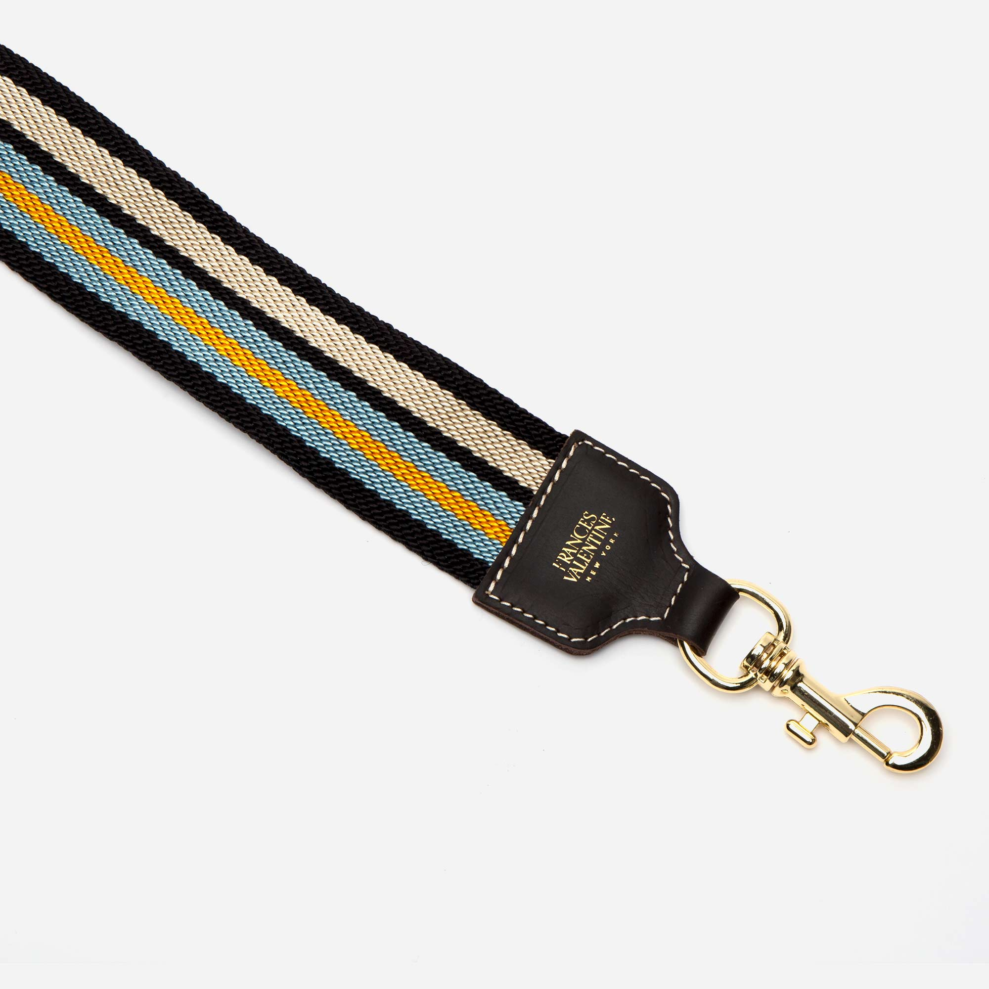 McCartney Guitar Strap Sky Blue Yellow - Frances Valentine