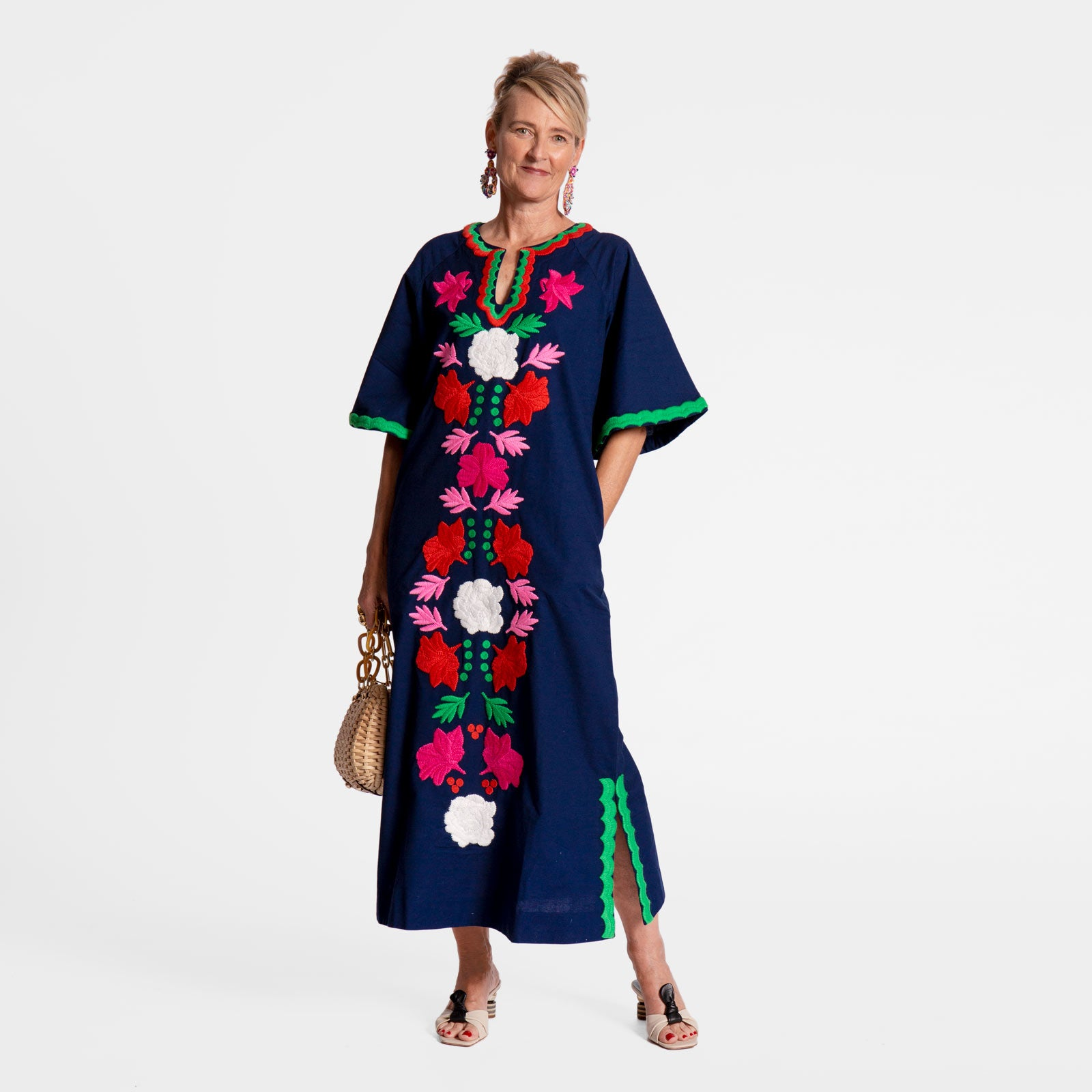 Joy Caftan Navy - Frances Valentine