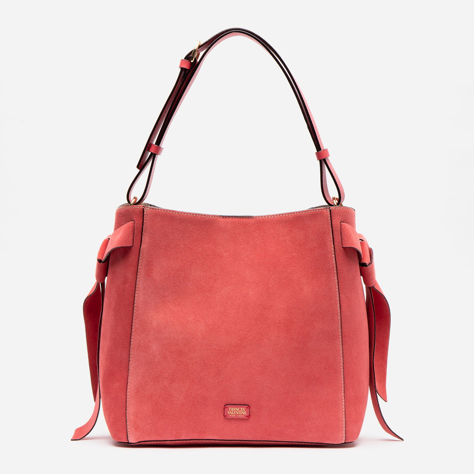 June Hobo Suede Cerise - Frances Valentine