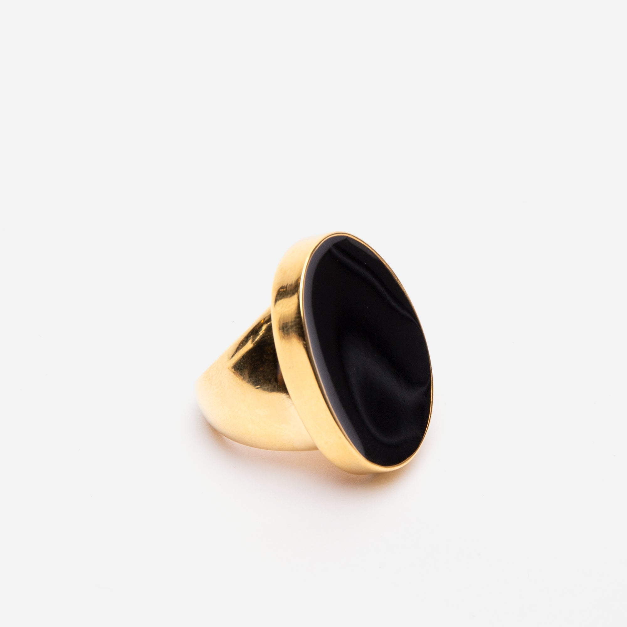 Enamel Palette Ring Black