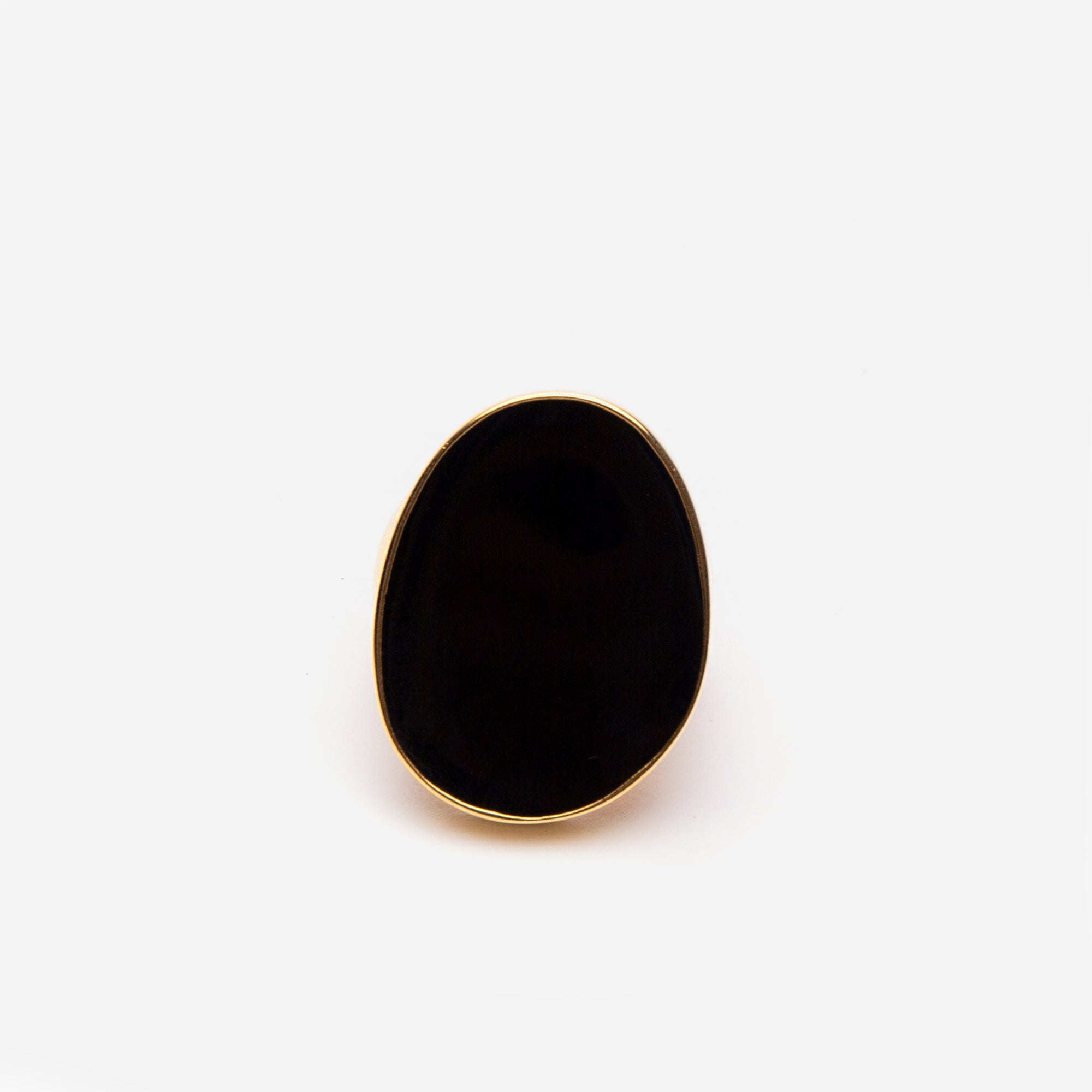 Enamel Palette Ring Black - Frances Valentine
