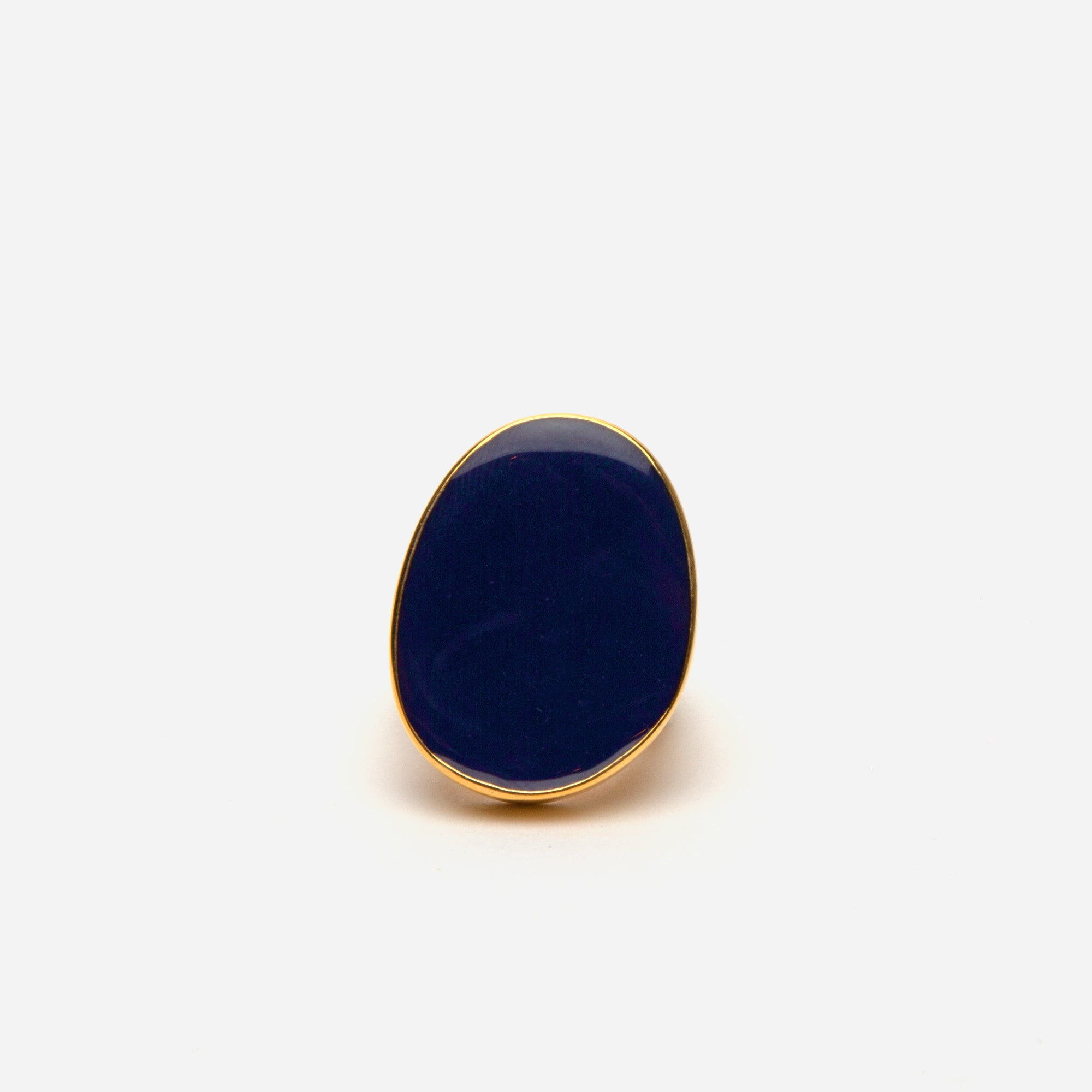Enamel Palette Ring Navy