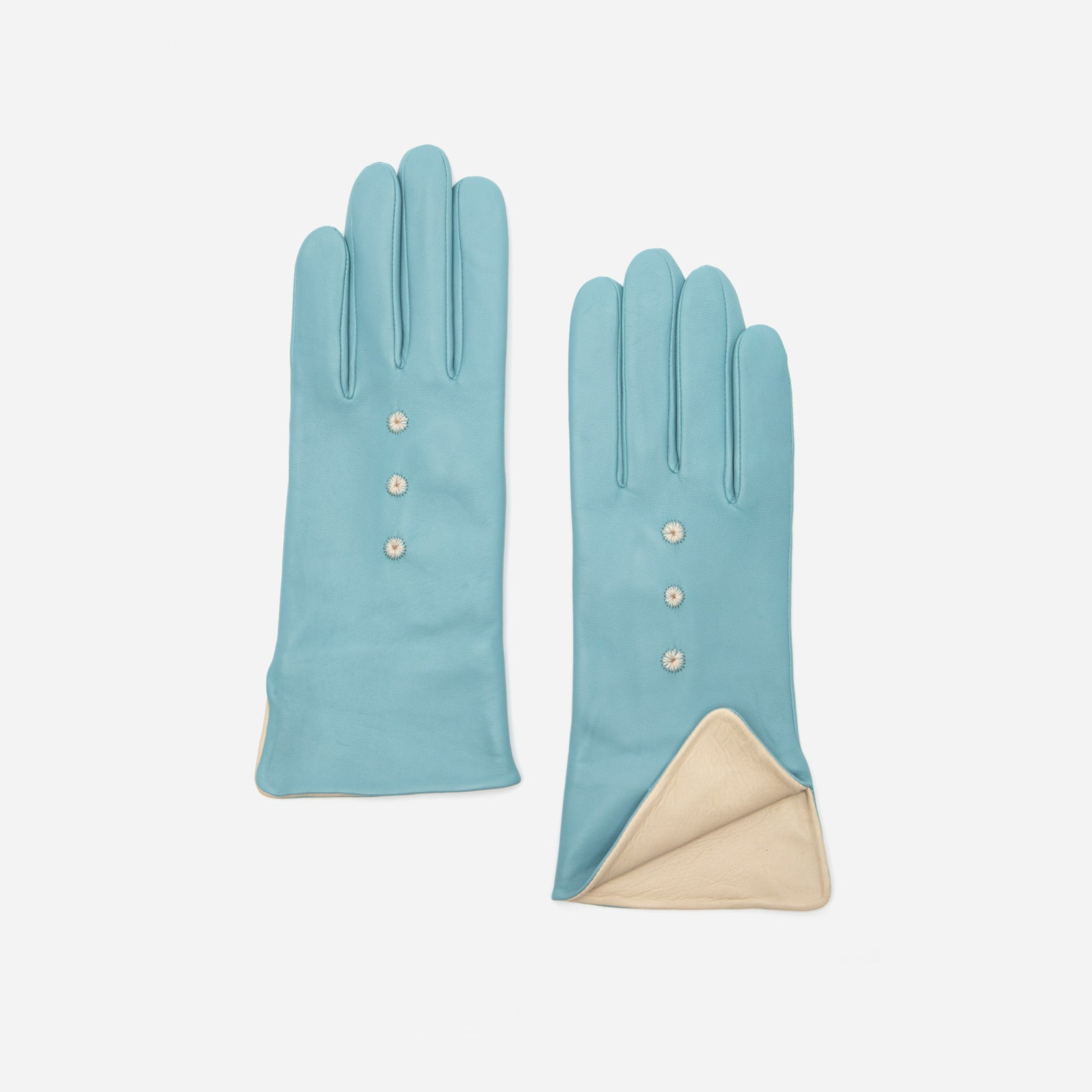 Luisa Asterisk Glove Leather Light Blue