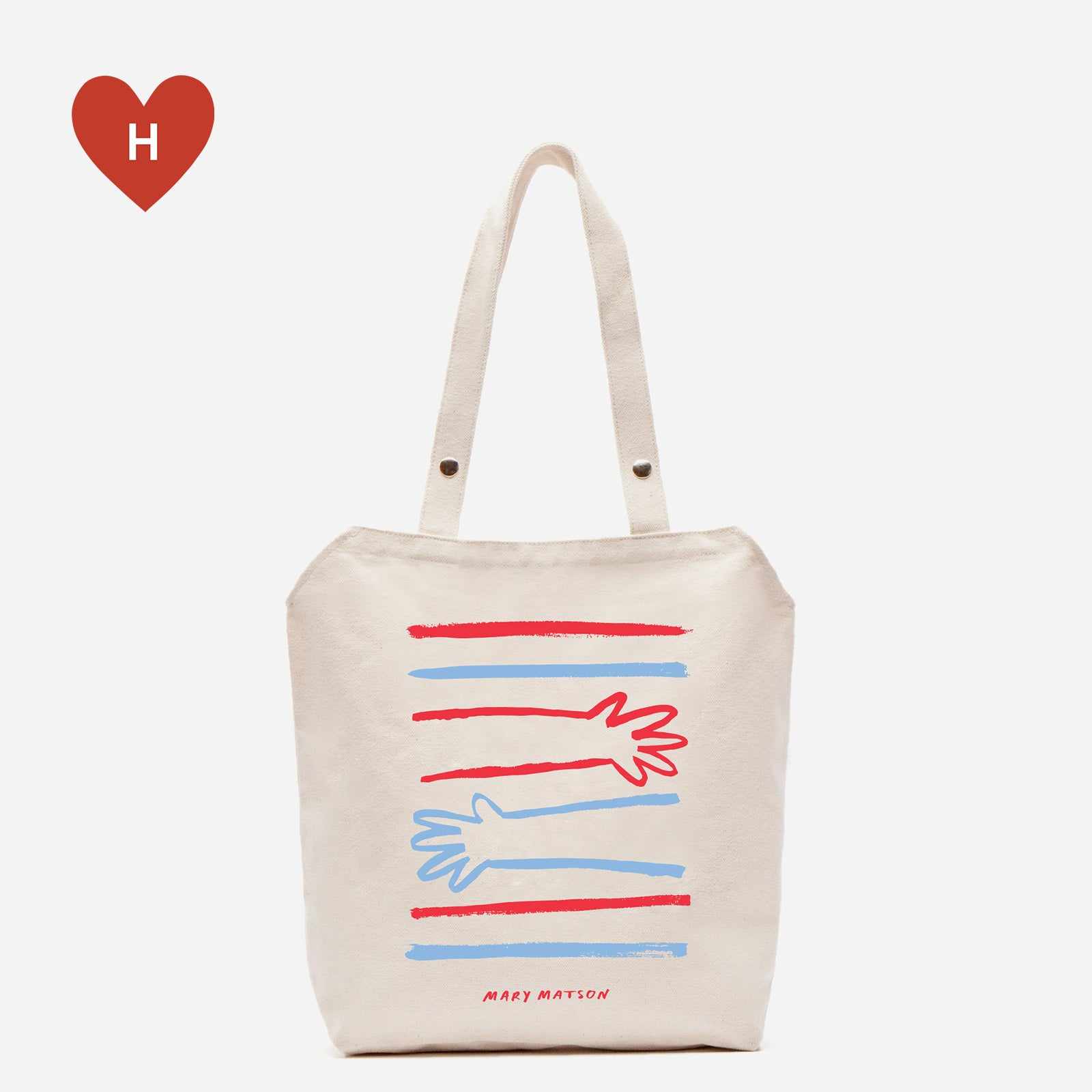 *DONATE TO A HEALTHCARE HERO* Big Hug Canvas Tote by Mary Matson - Frances Valentine