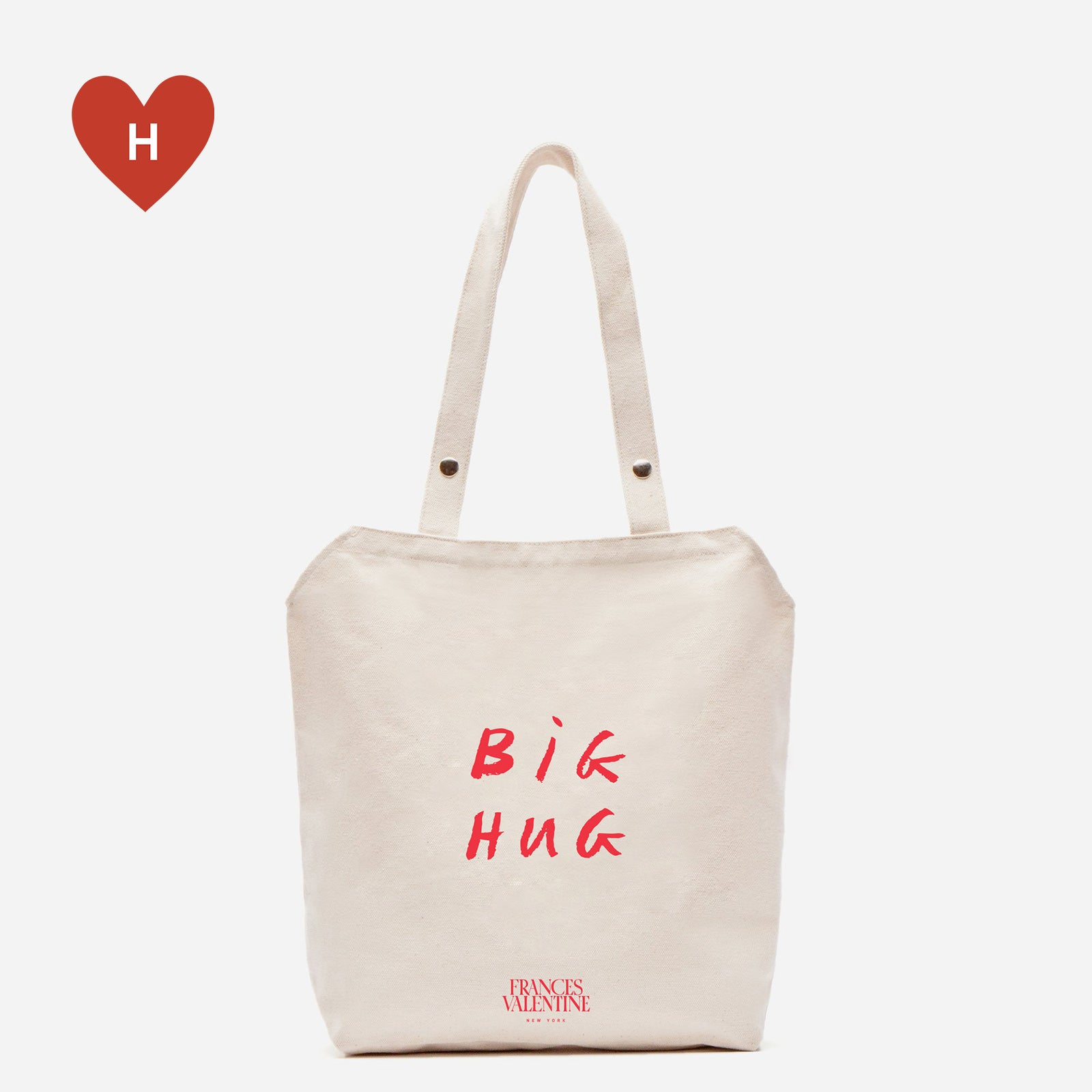*DONATE TO A HEALTHCARE HERO* Big Hug Canvas Tote by Mary Matson