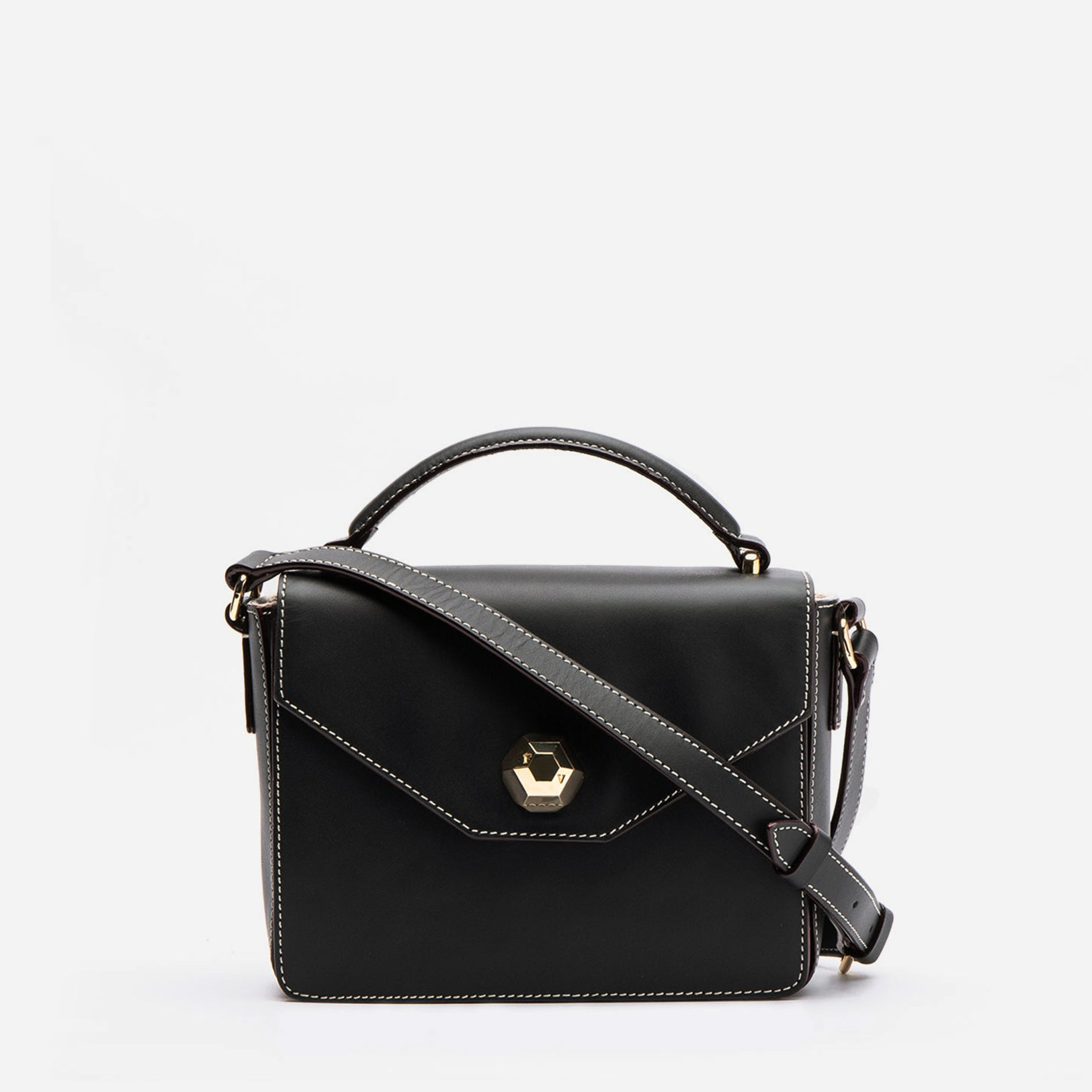 Mini Midge Vachetta Leather Black - Frances Valentine