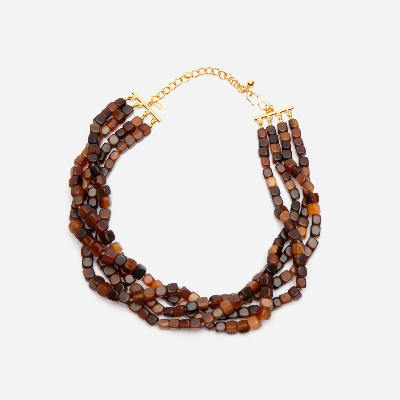 Multi Strand Amber Necklace - Frances Valentine
