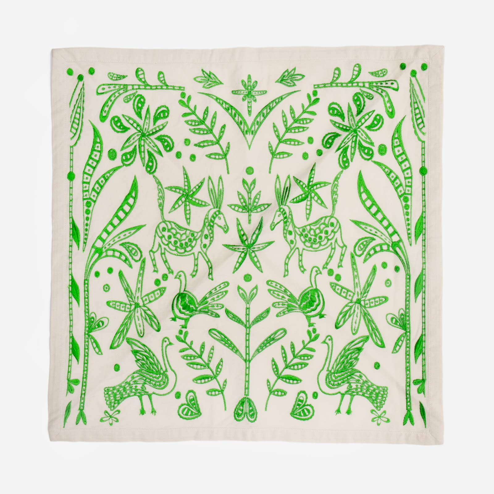 Embroidered Napkin Set Veracruz Green