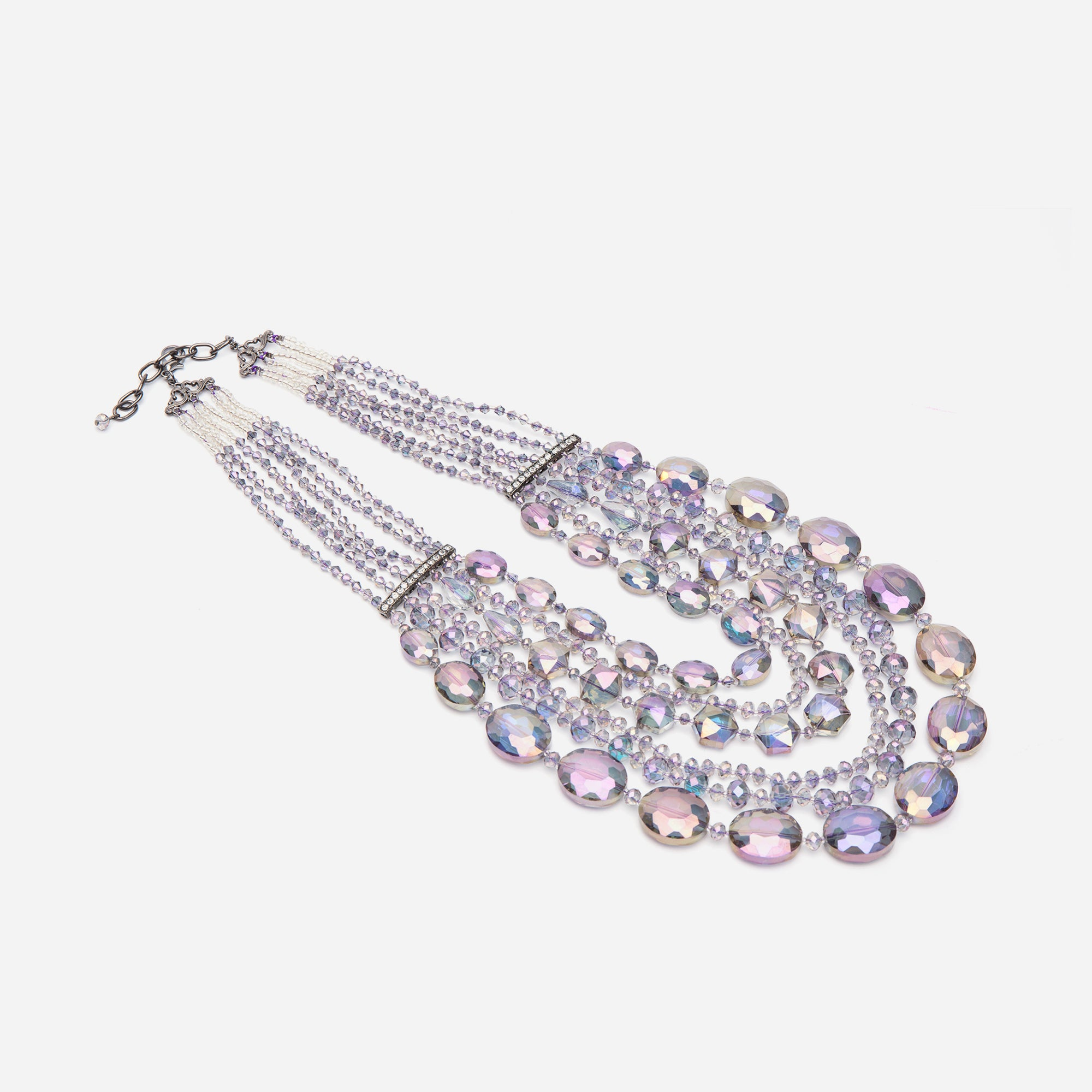 Transcend Multi Strand Necklace Violet