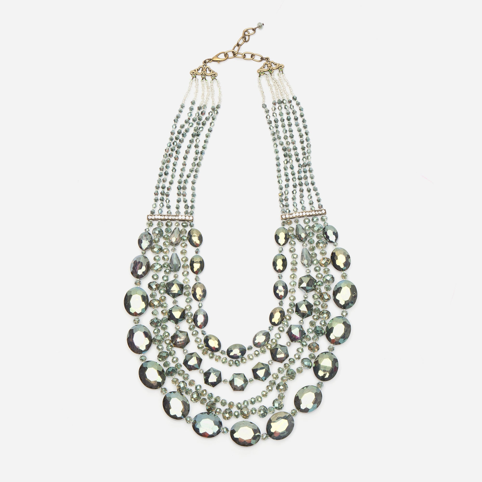 Transcend Multi Strand Necklace Sage
