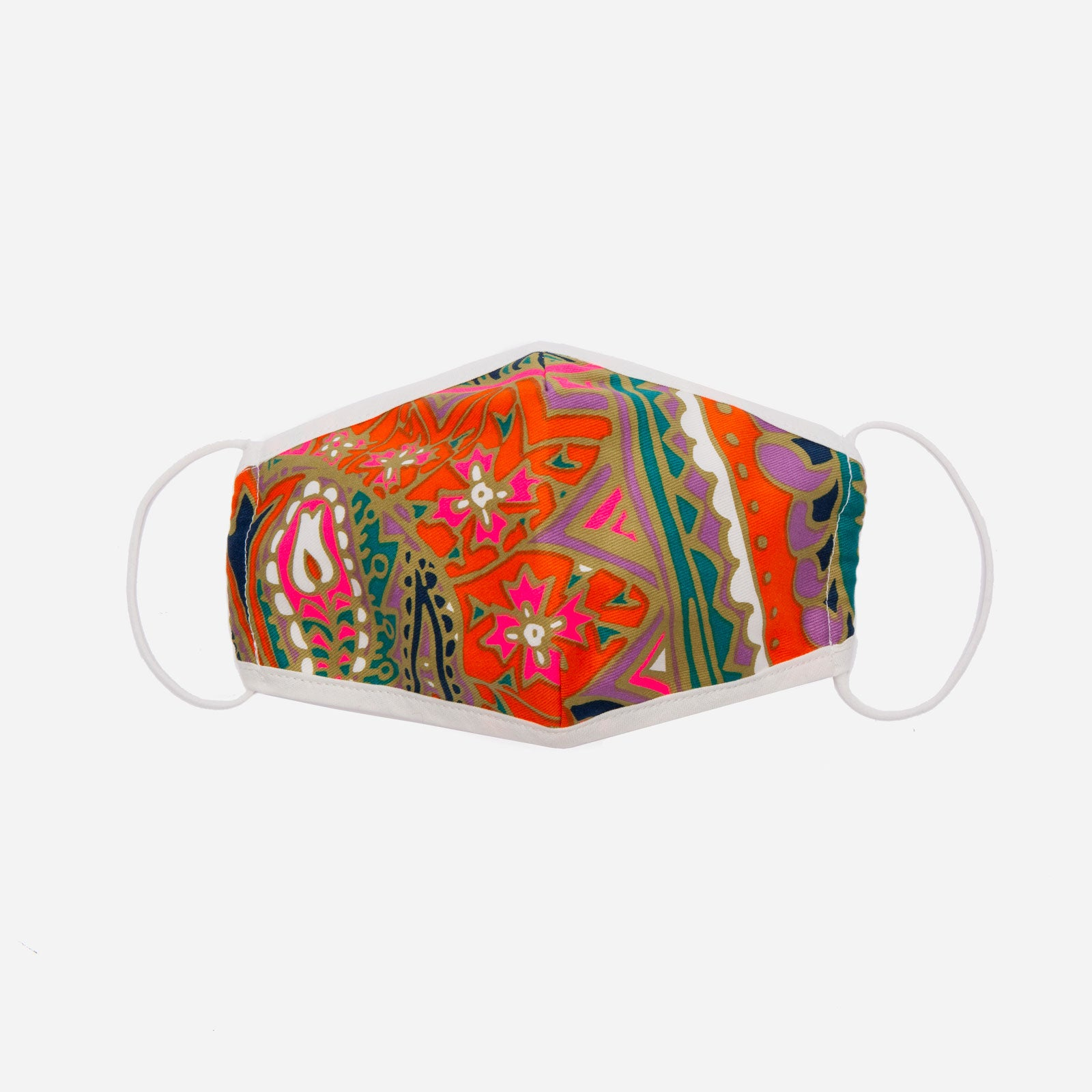 Fitted Mask Paisley Print