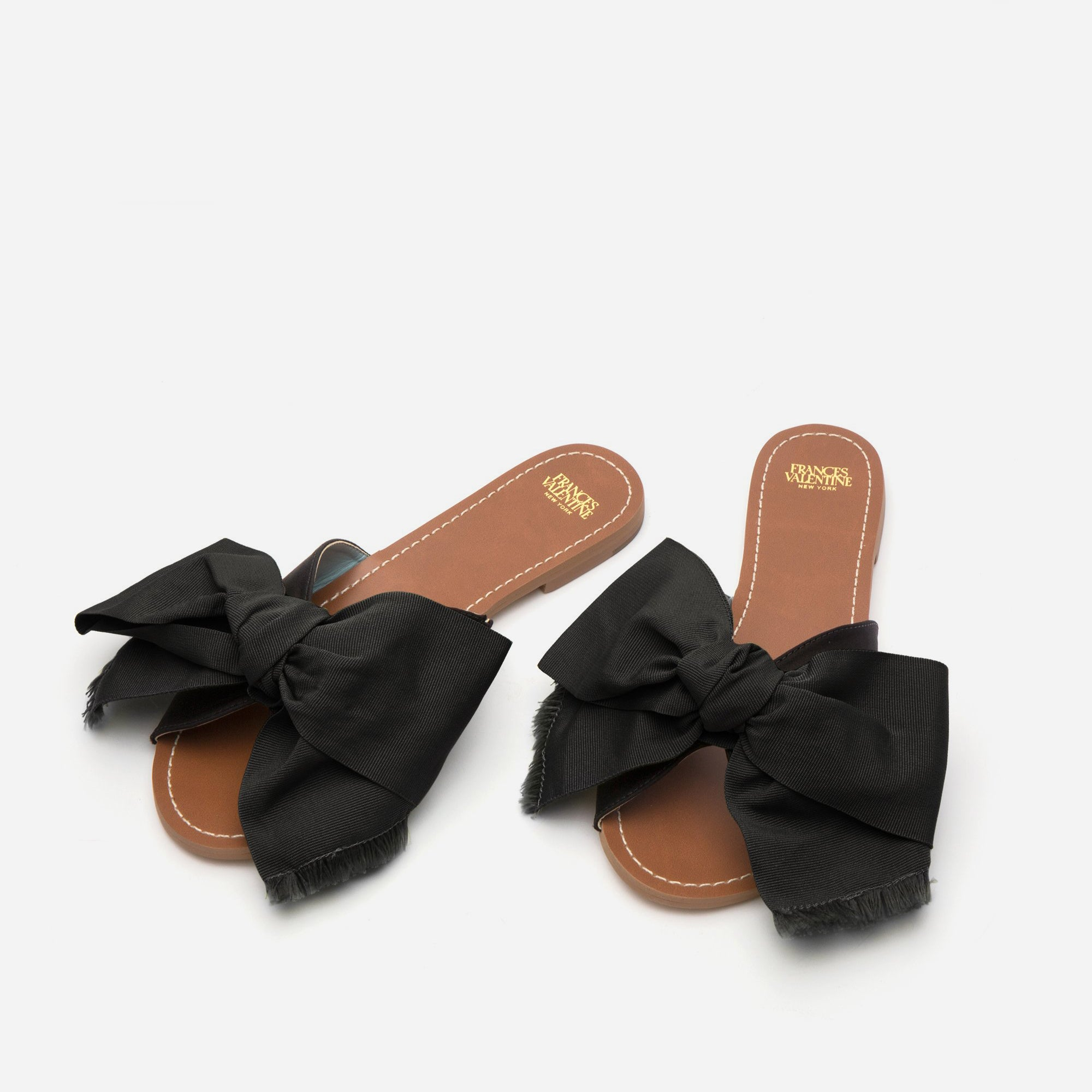 Flo Grosgrain Bow Slide Black