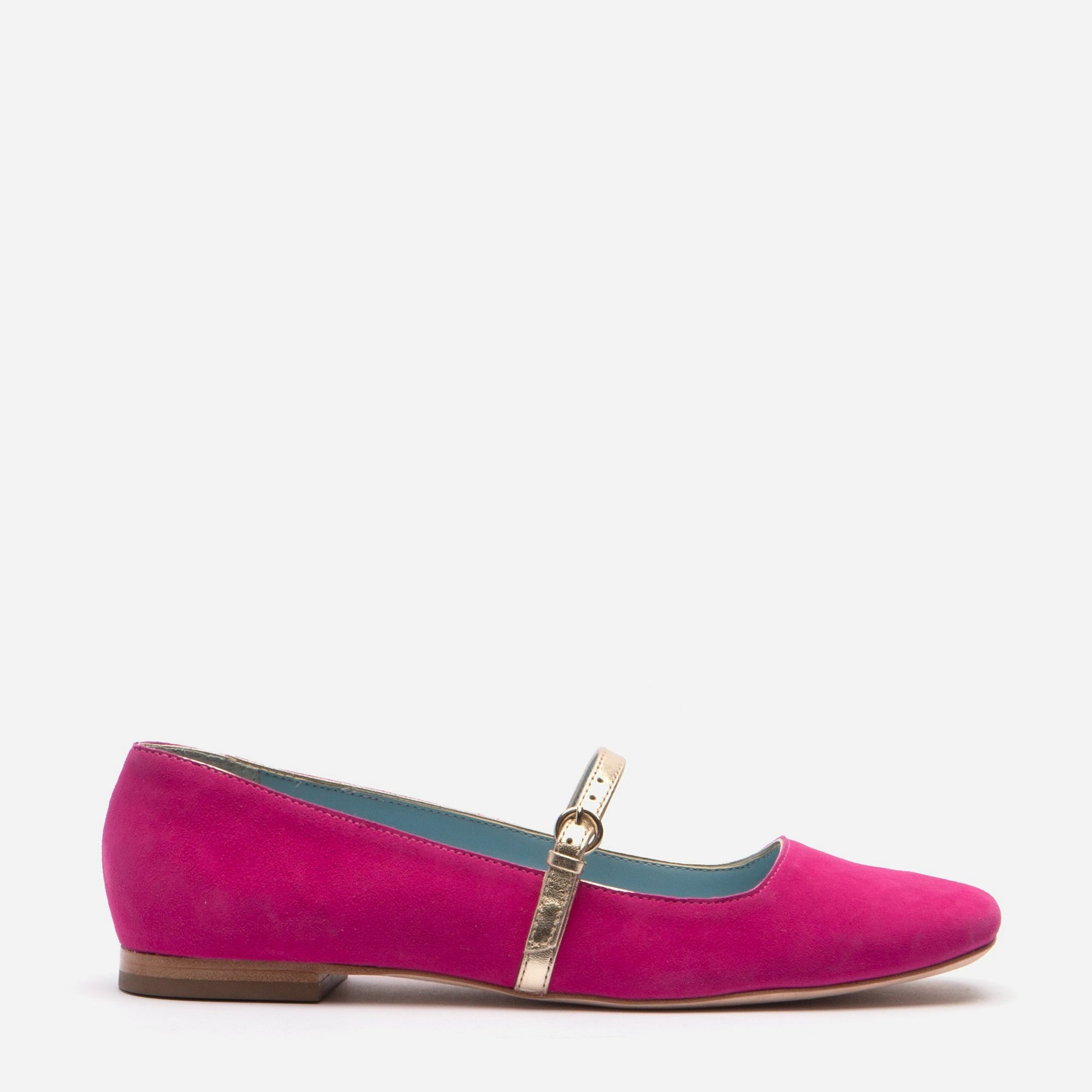 Joan Suede Mary Jane Flat Berry