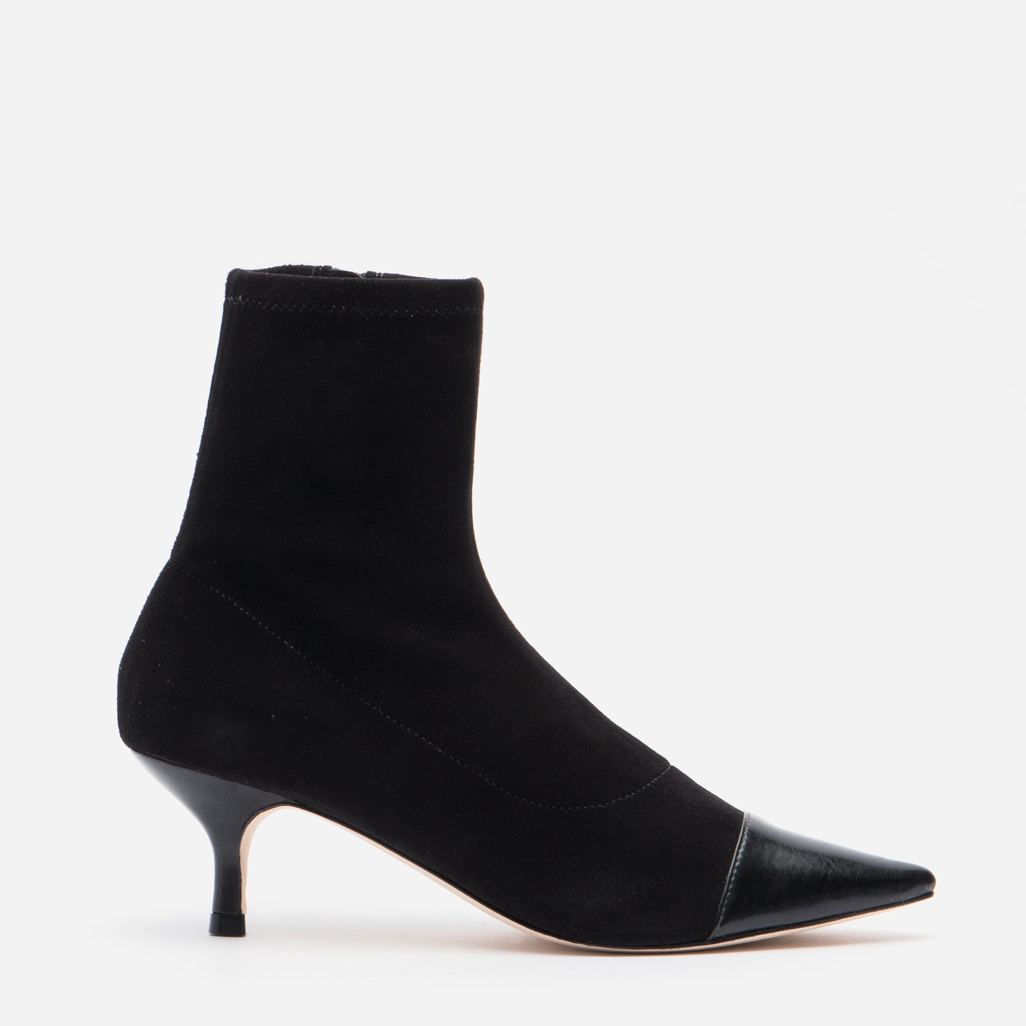 Serena Suede Pointed Toe Boot Black - Frances Valentine