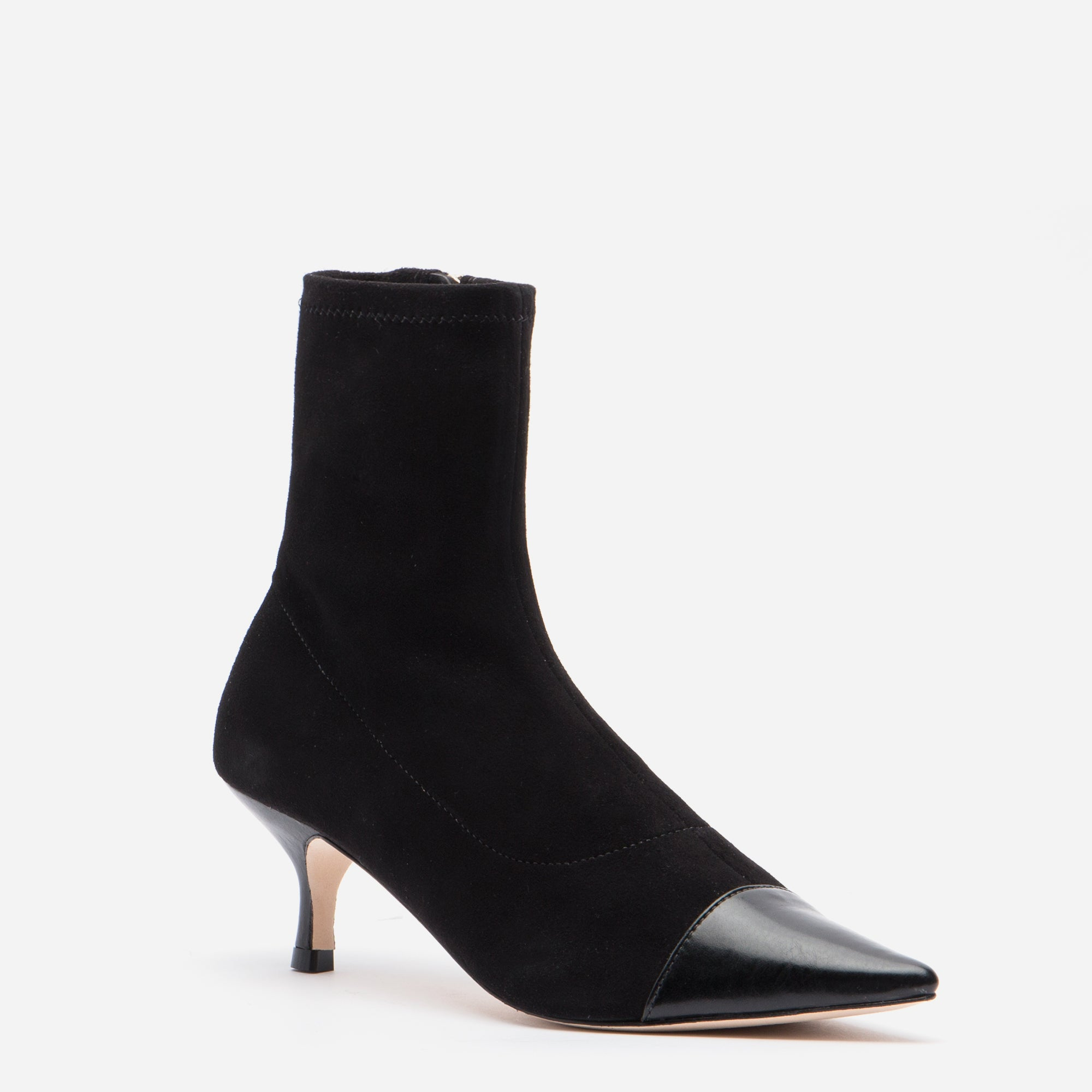 Serena Suede Pointed Toe Boot Black