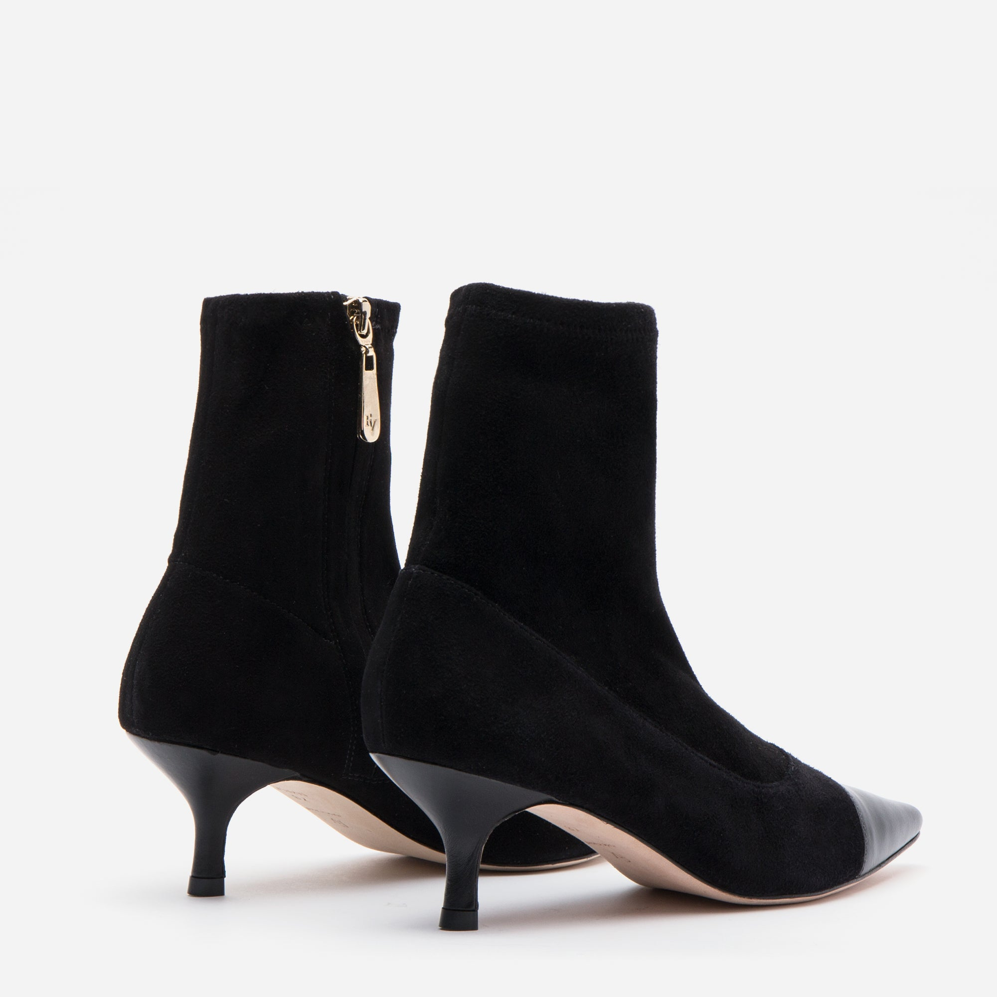 Serena Suede Pointed Toe Boots Black