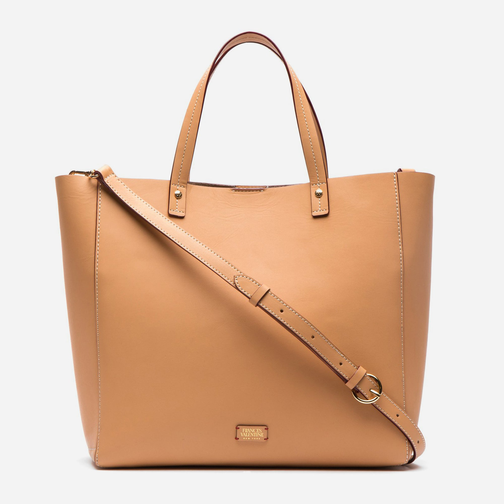 Large Margaret Tote Natural Vachetta Leather