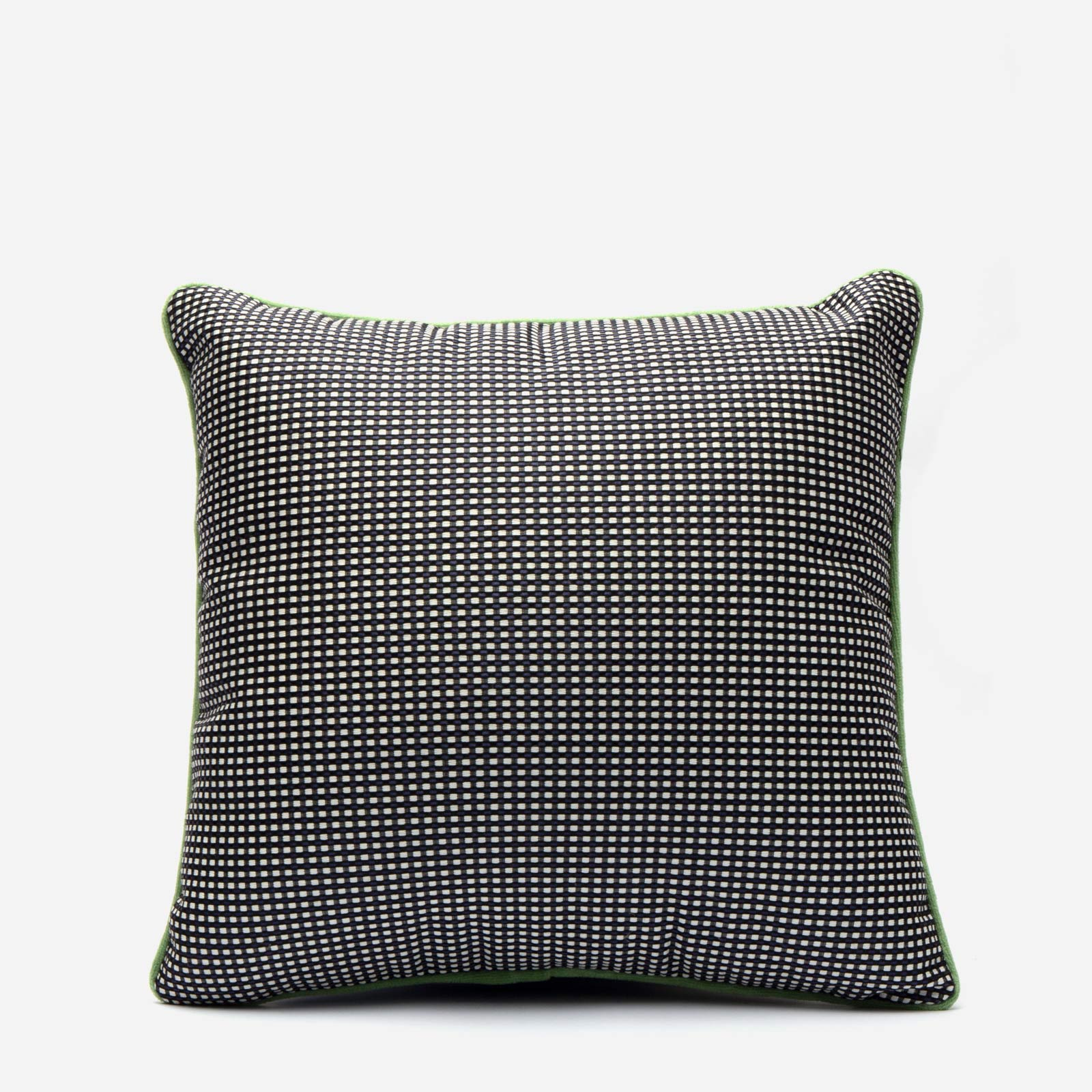 Dot Jacquard Throw Pillow Black White - Frances Valentine