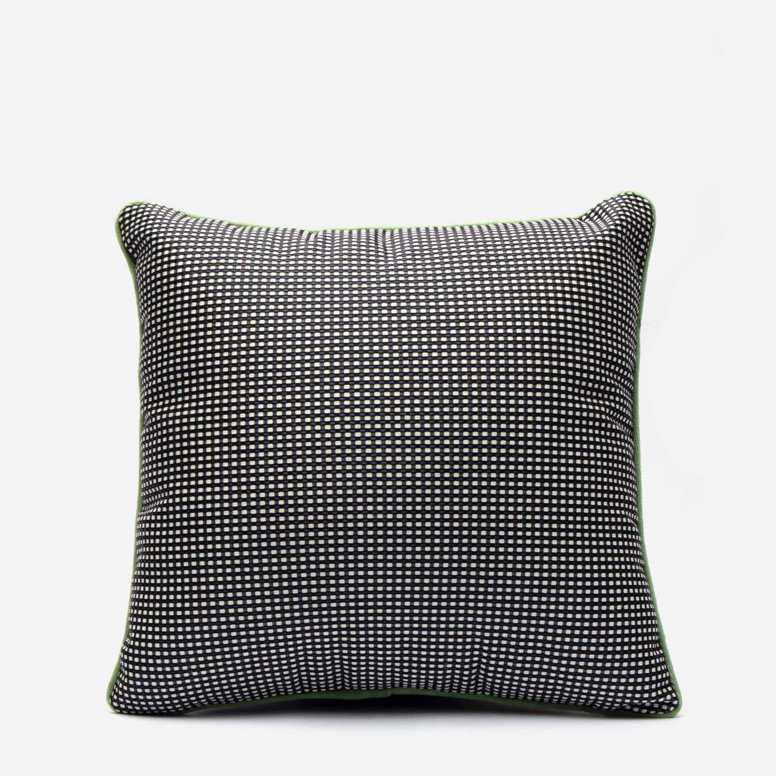 Dot Jacquard Throw Pillow Black White