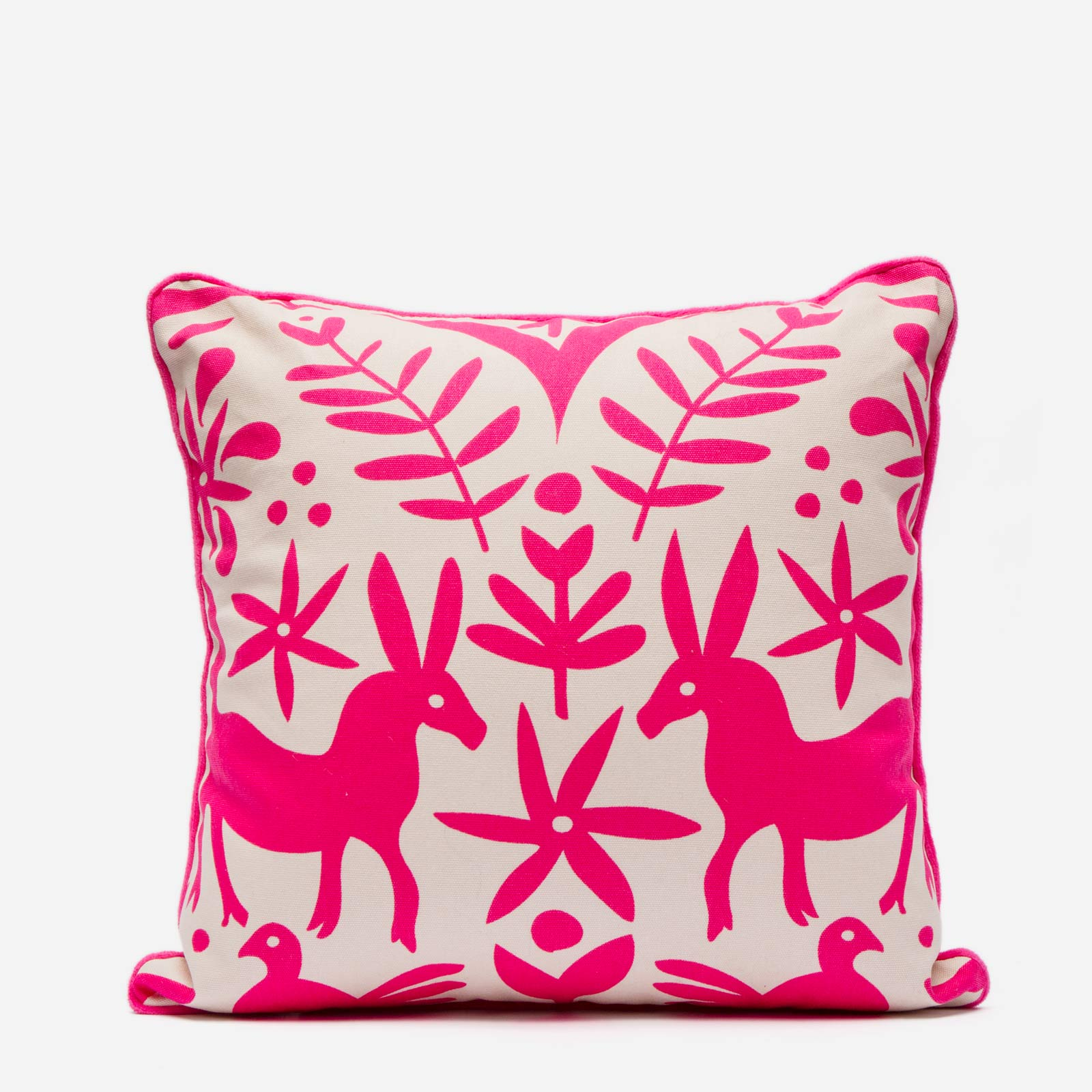 Veracruz Throw Pillow Pink