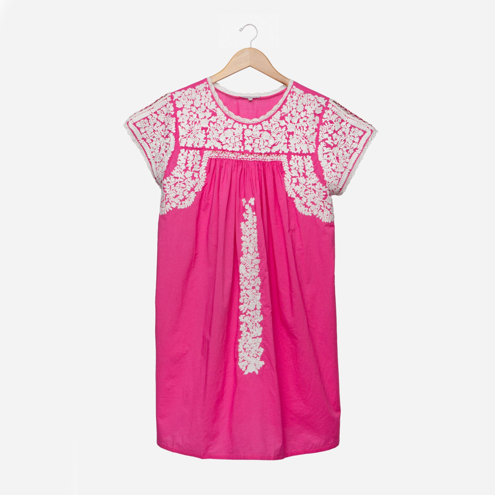 Floral Embroidered Lace Dress Pink Oyster