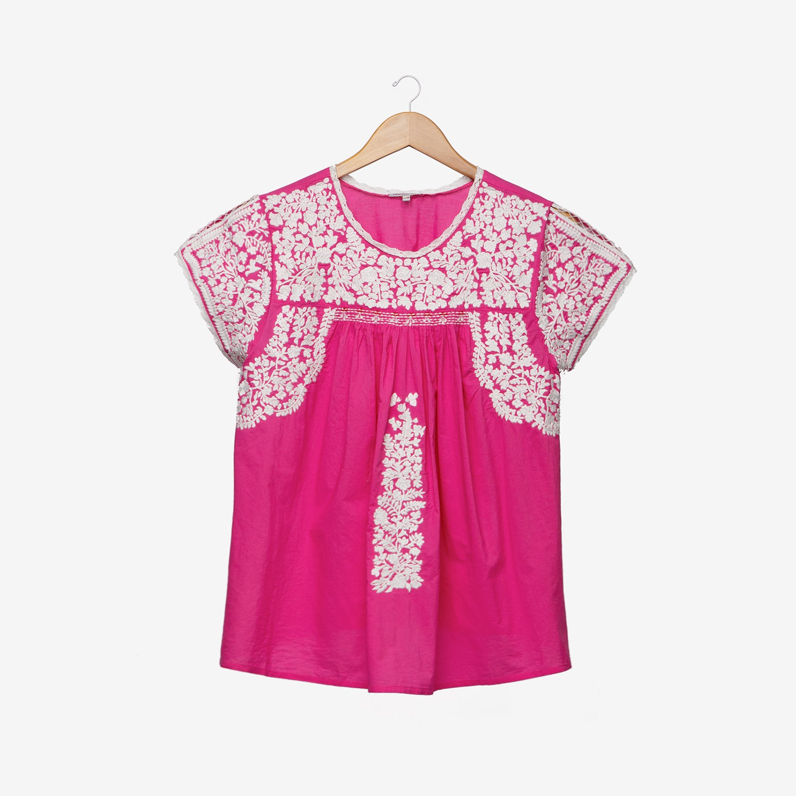 Floral Embroidered Lace Top Pink Oyster